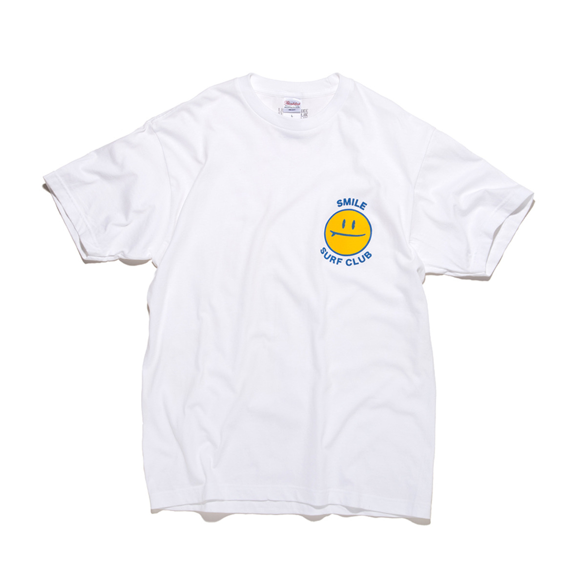 [BIG WAVE] SMILE SURF CLUB TEE 'WHITE'