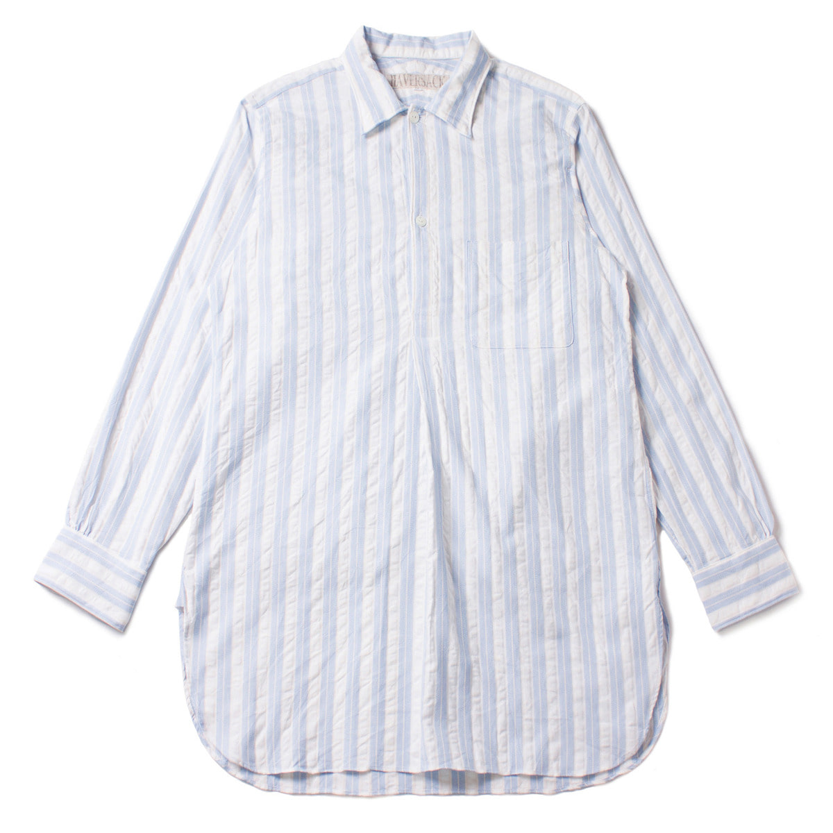 [HAVERSACK] LONG PULLOVER STRIPE SHIRT 'SKY'
