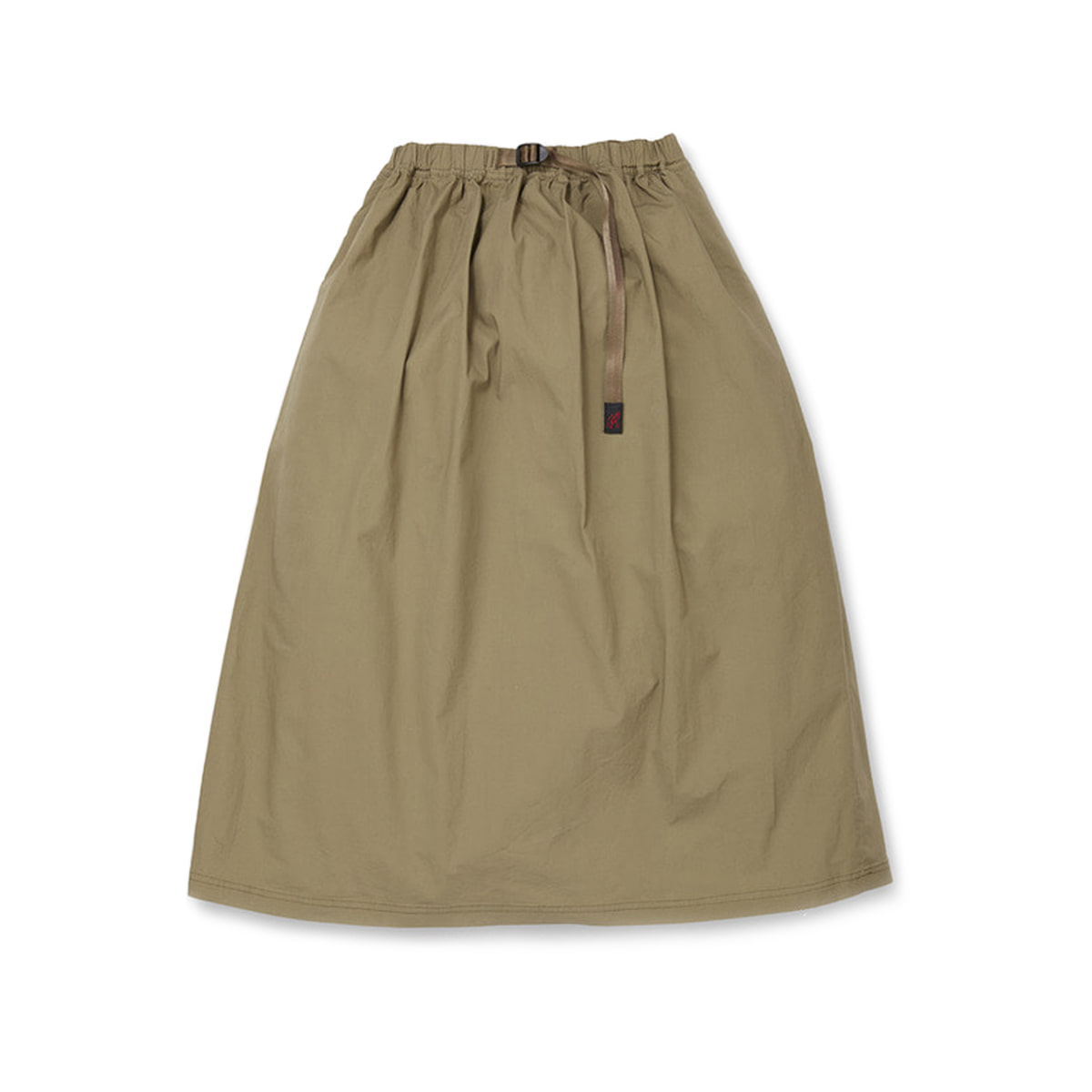 [GRAMICCI] WEATHER LONG FLARE SKIRT 'KHAKI'
