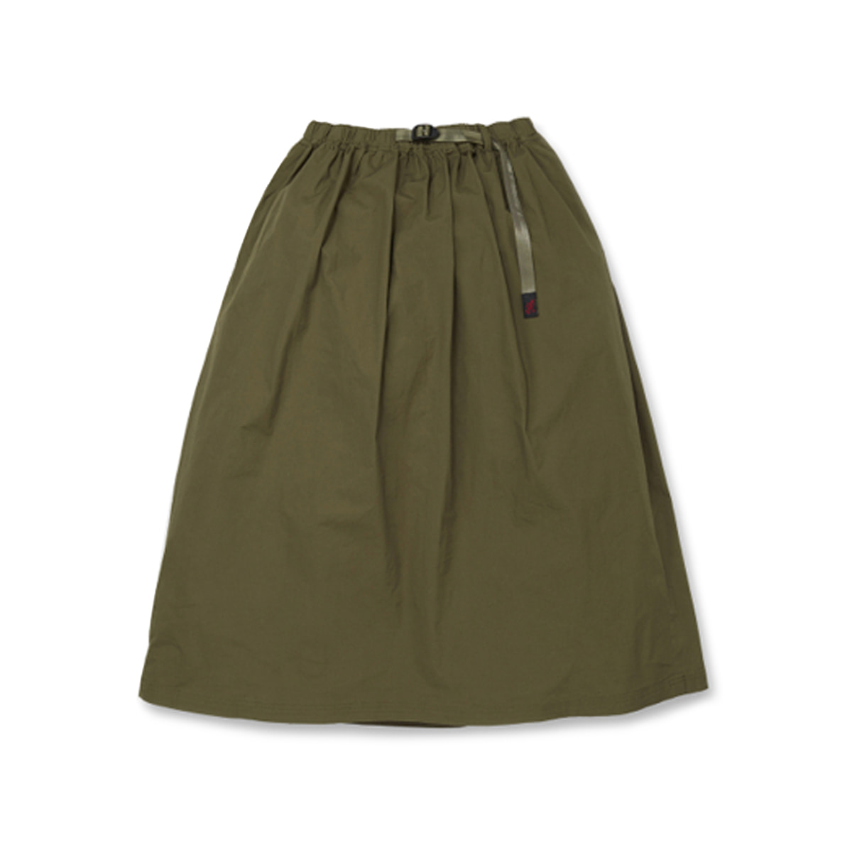 [GRAMICCI] WEATHER LONG FLARE SKIRT 'OLIVE'