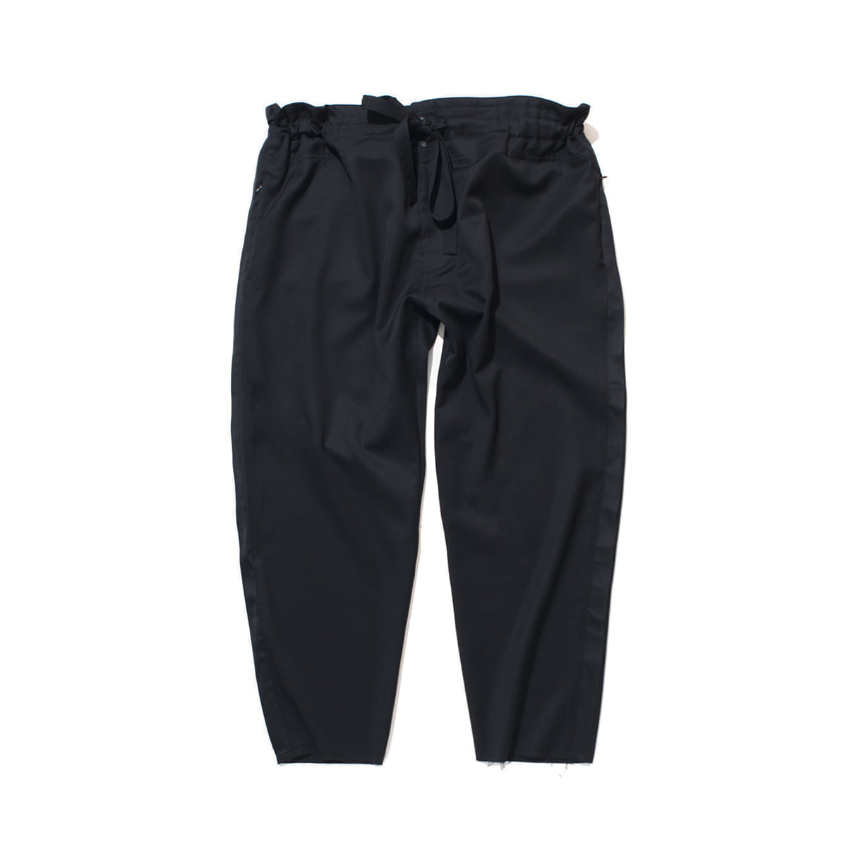 [GAKURO] TAPERED WRAP PANTS 'BLACK'