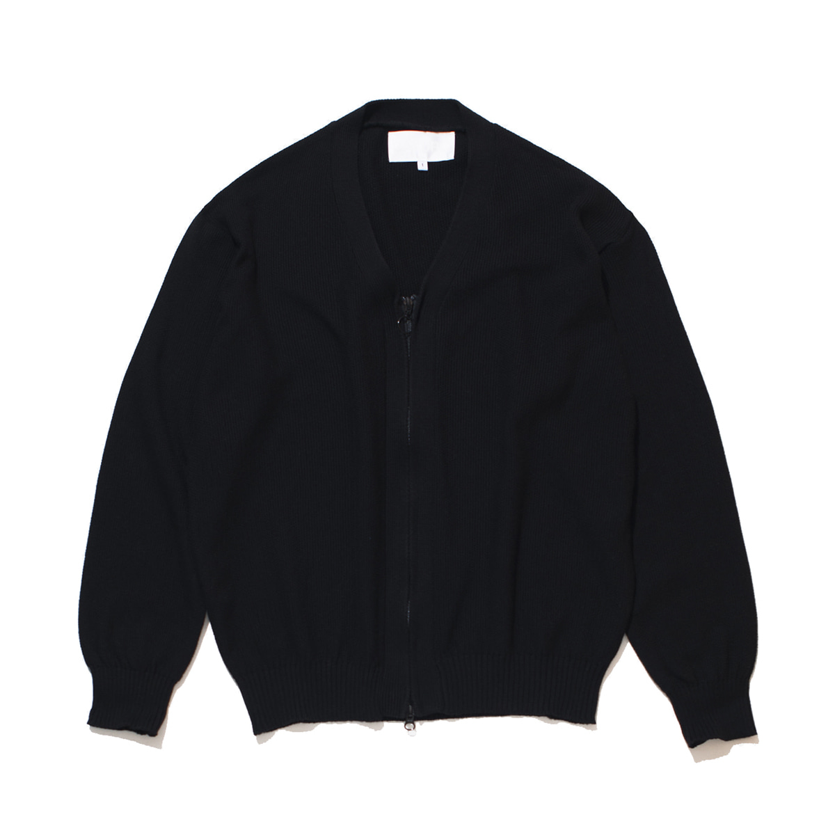 [GAKURO] ZIPPERED CARDIGAN 'BLACK'
