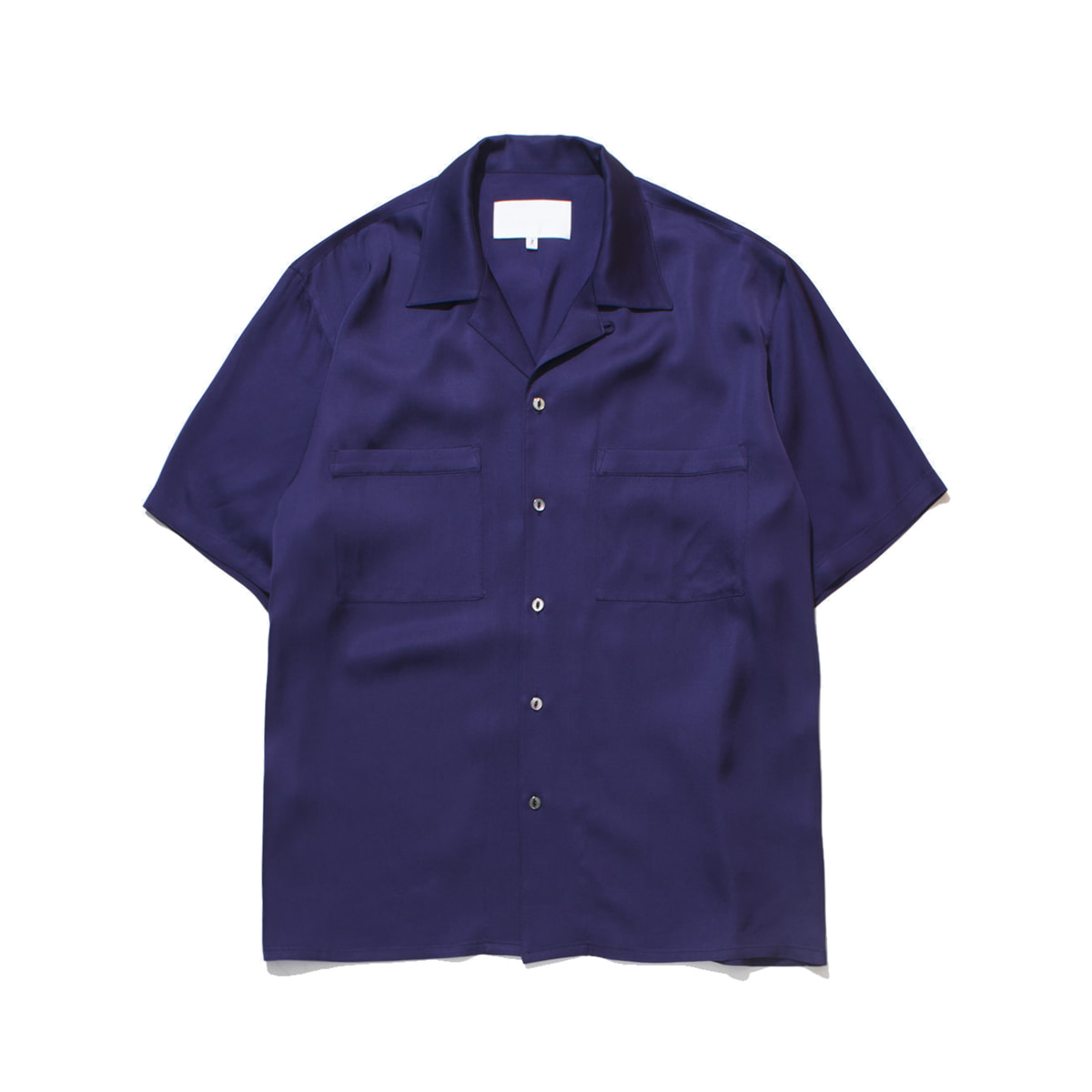 [GAKURO] OPEN COLLAR SHIRT - VISCOSE 'PURPLE'