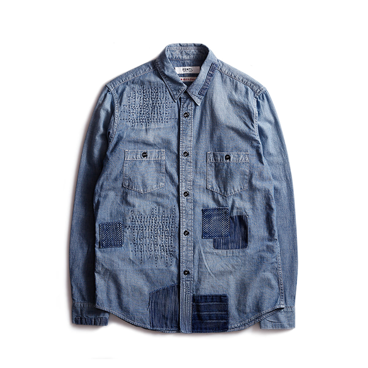 [FDMTL] DENIM SHIRT 3YR WASH 'INDIGO'