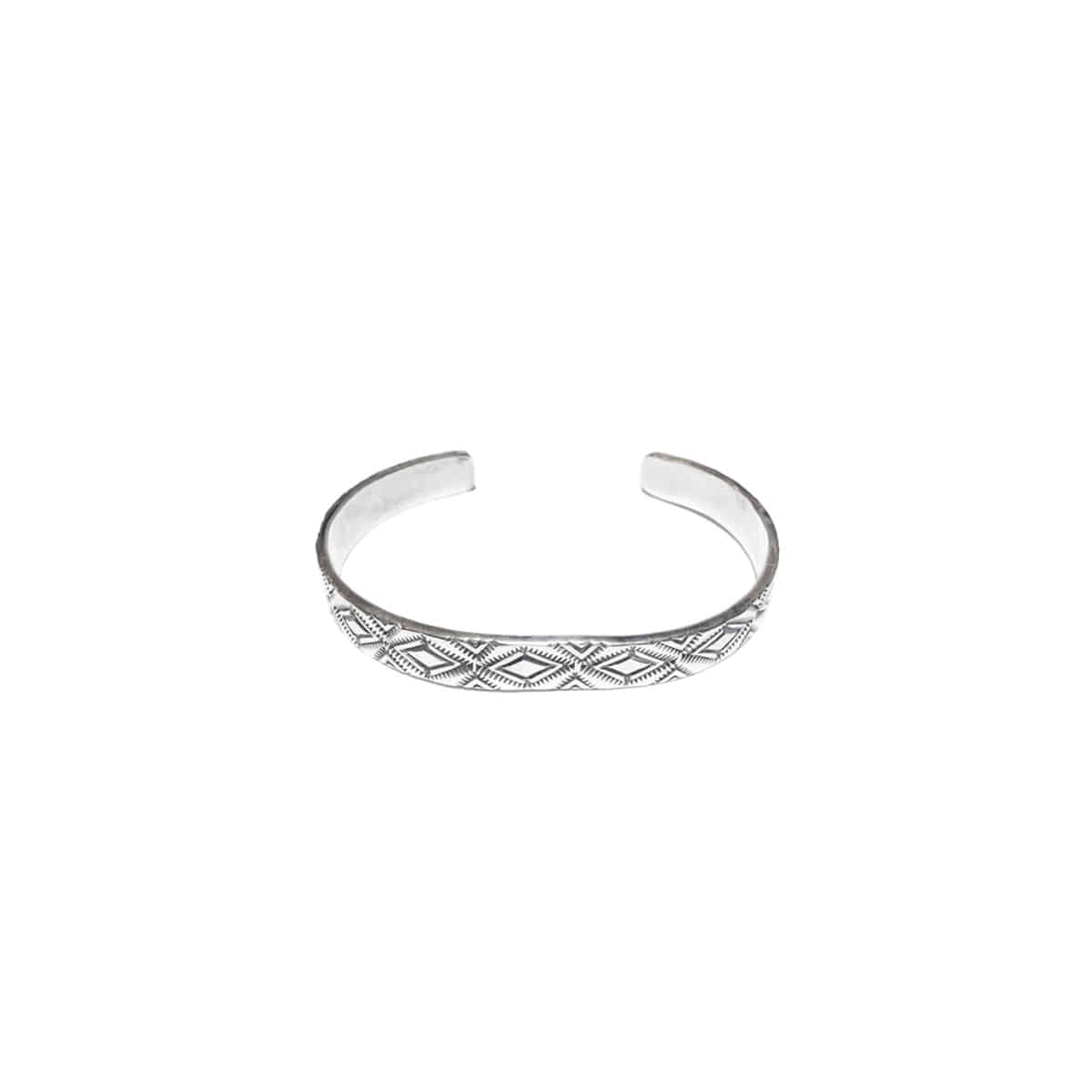 [NORTH WORKS] 900 SILVER STAMP BANGLE 'W-038'