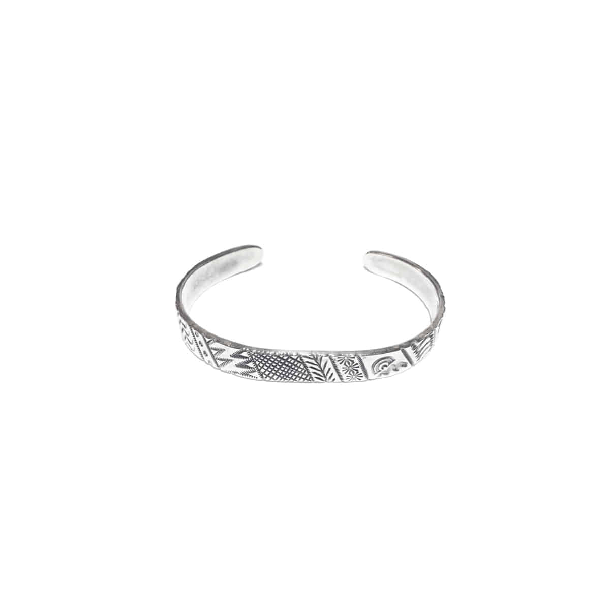 [NORTH WORKS] 900 SILVER STAMP BANGLE 'W-039'