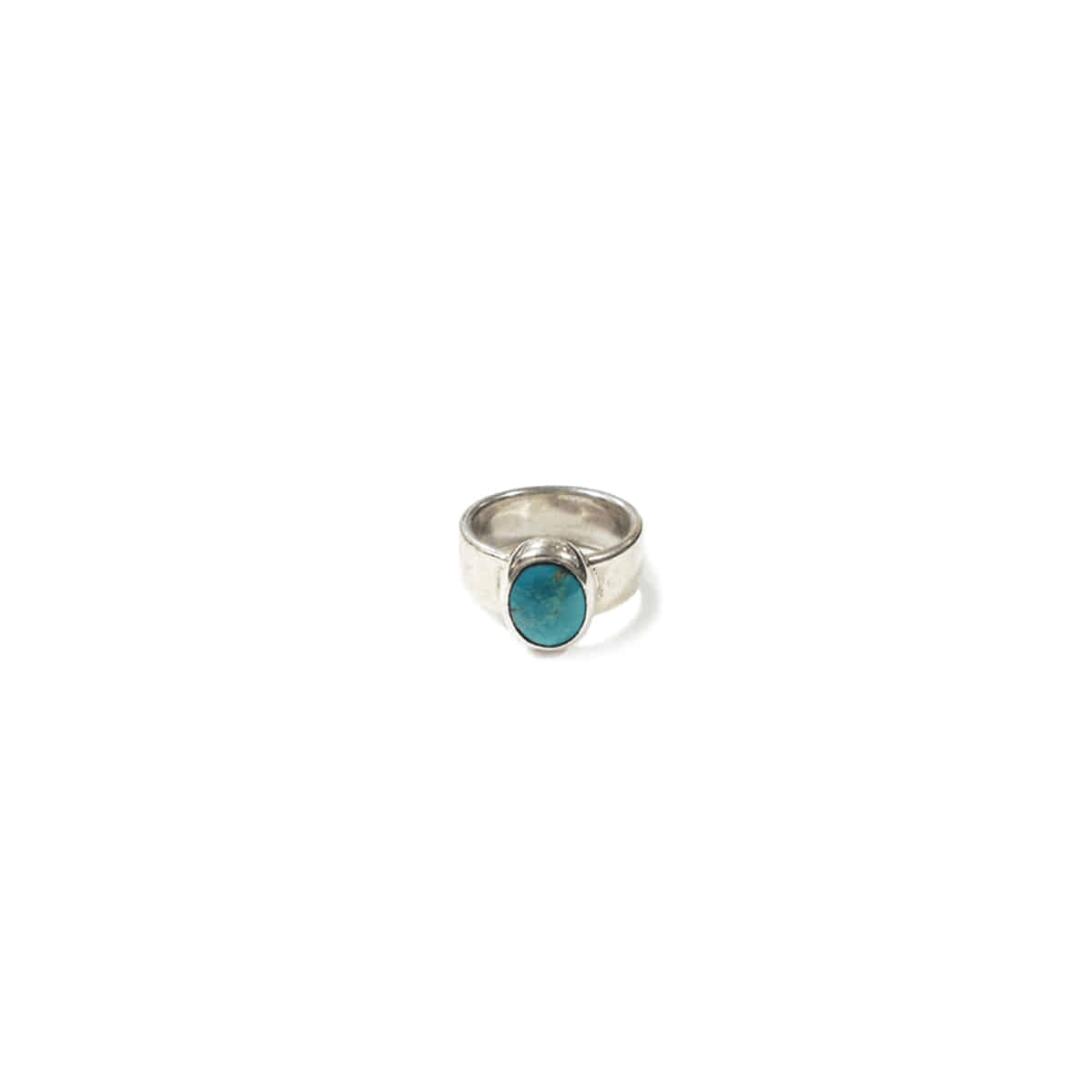 [NORTH WORKS] 900 SILVER TURQUOISE RING 'W-028'