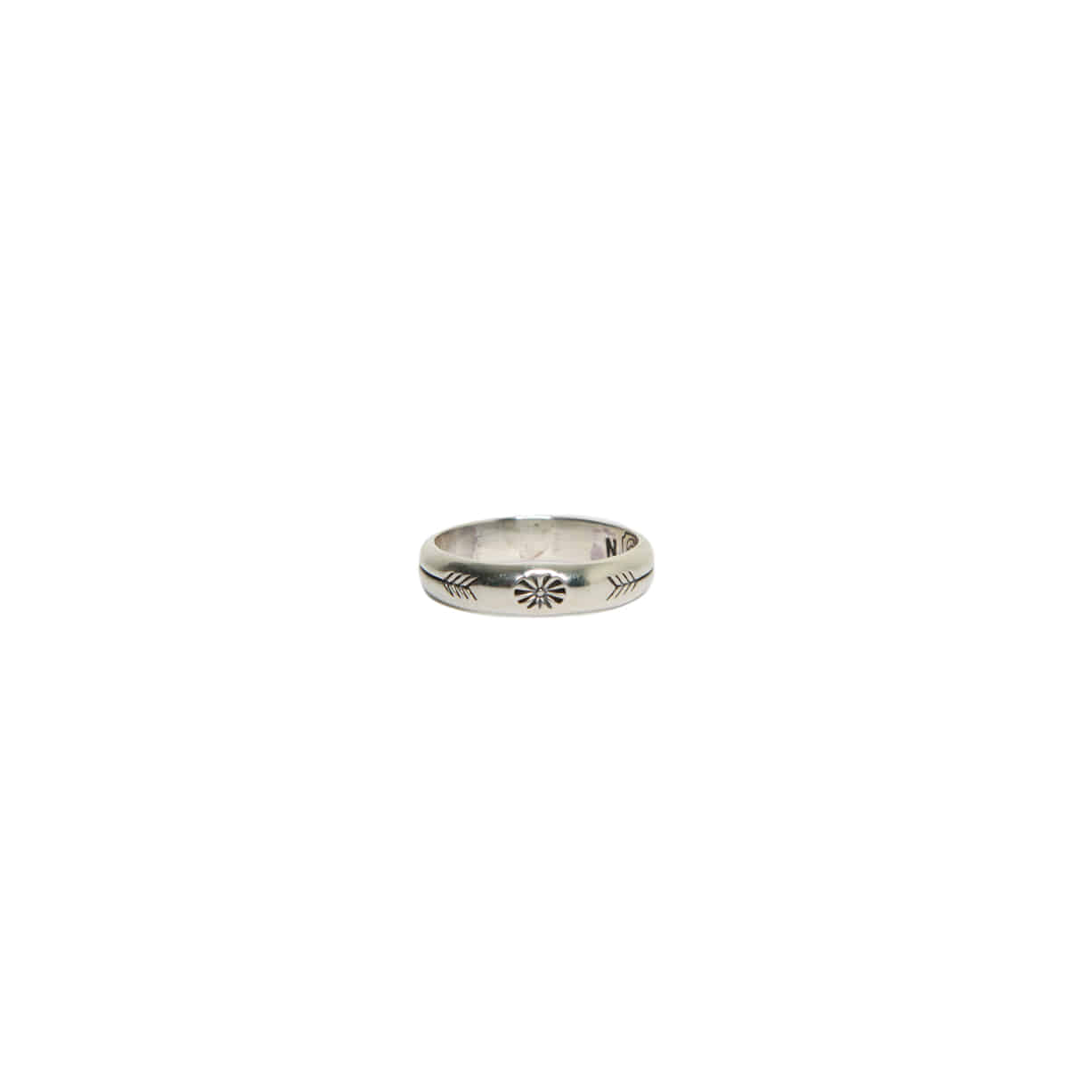 [NORTH WORKS] 900 SILVER STAMP RING 'W-024'