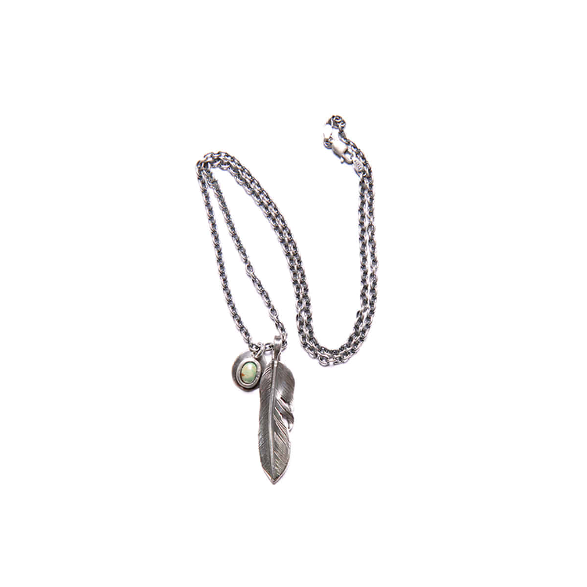 [NORTH WORKS] LIBERTY FEATHER PENDENT NECKLACE 'N-410'
