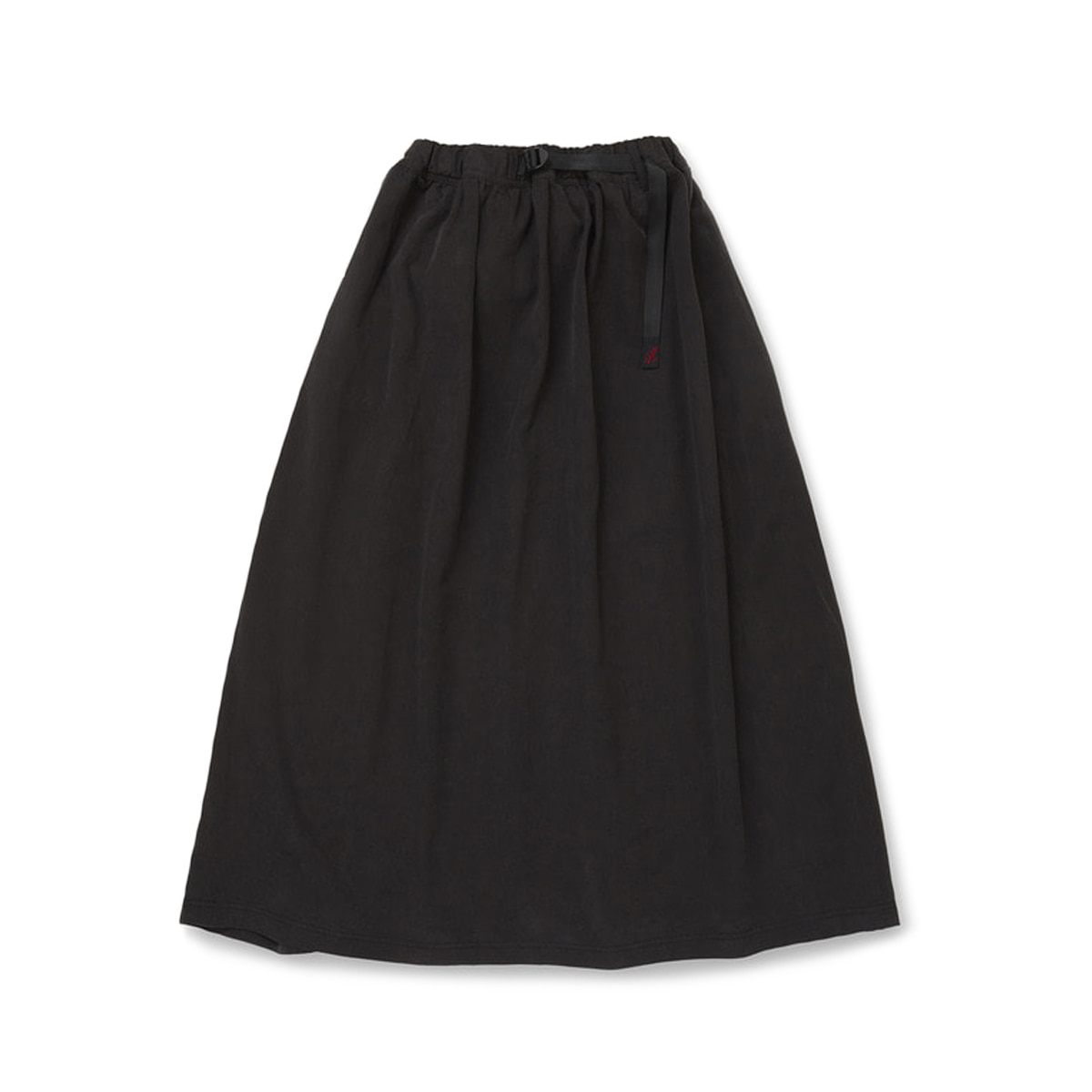 [GRAMICCI] TENCEL LONG FLARE SKIRT 'CHARCOAL'