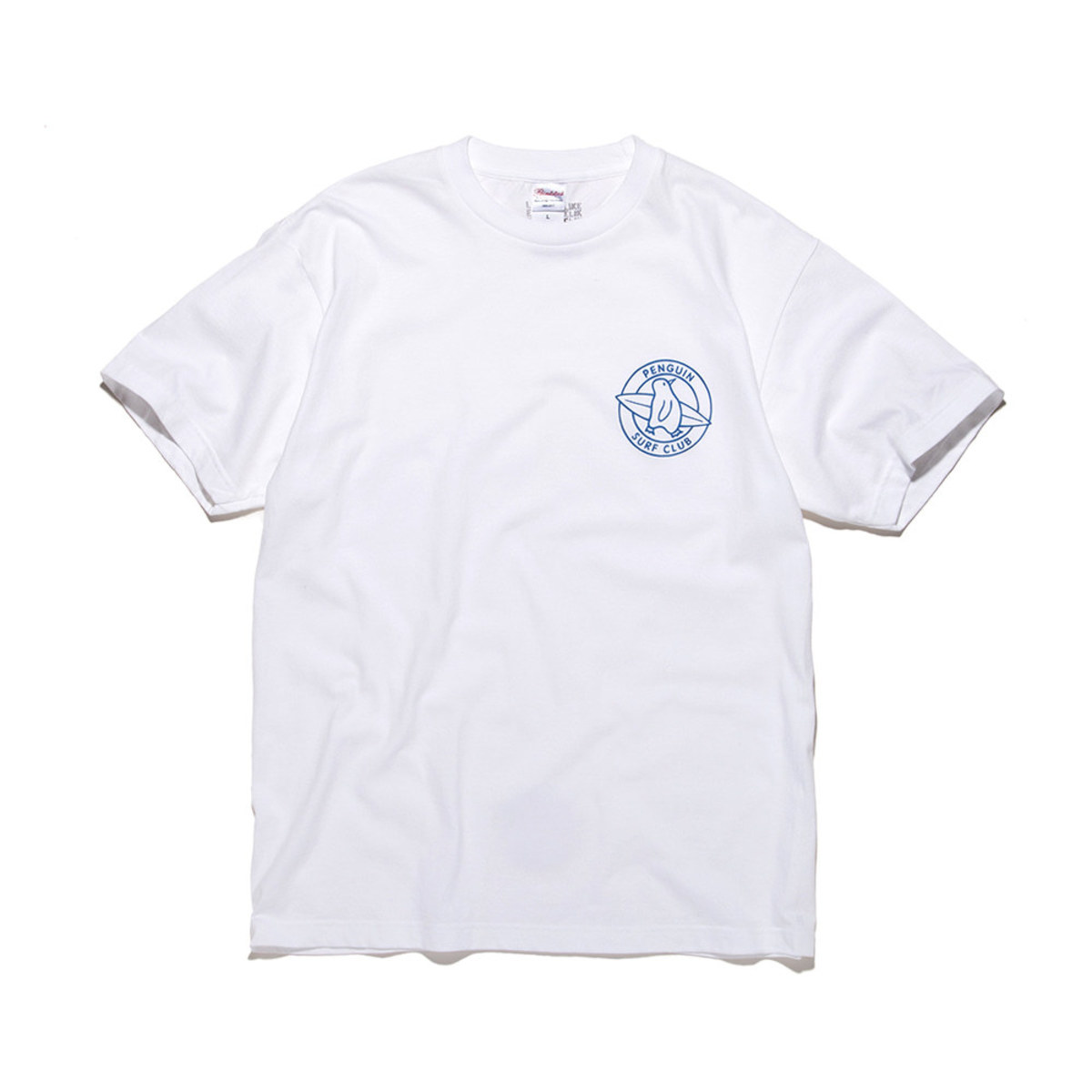 [BIG WAVE] PENGUIN SURF CLUB TEE 'WHITE'