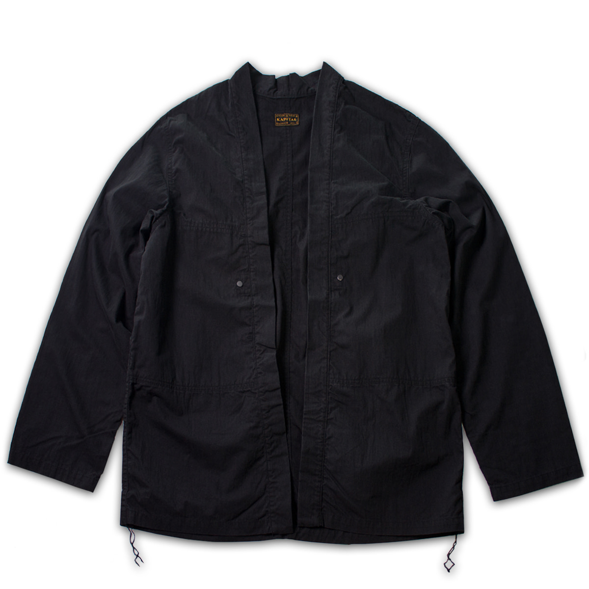 [KAPITAL] RIPSTOP AVIATOR KAKASHI SHIRT 'BLACK'