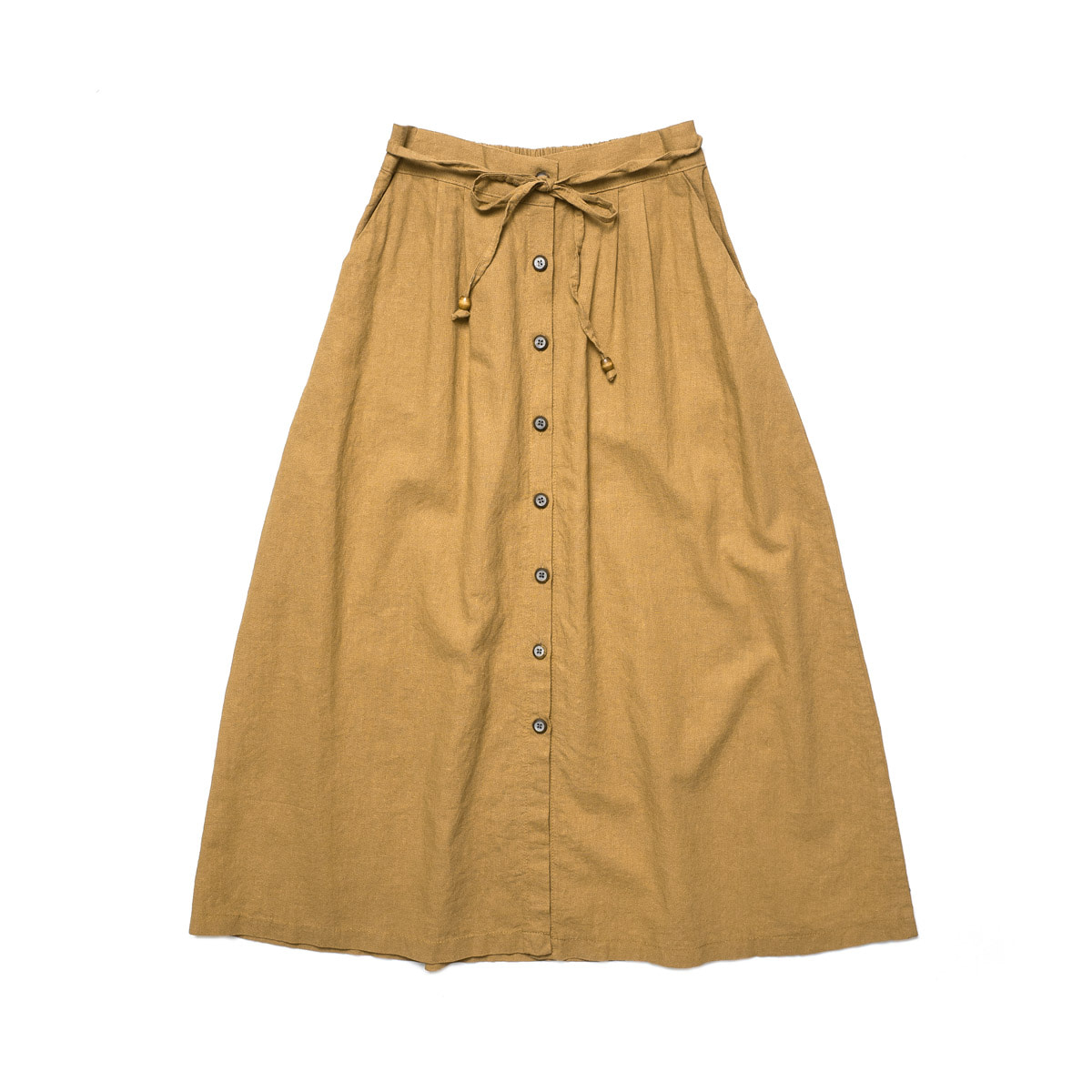 [CHIQUITA] L 2018 LINEN OPEN SKIRT 'BRICK'