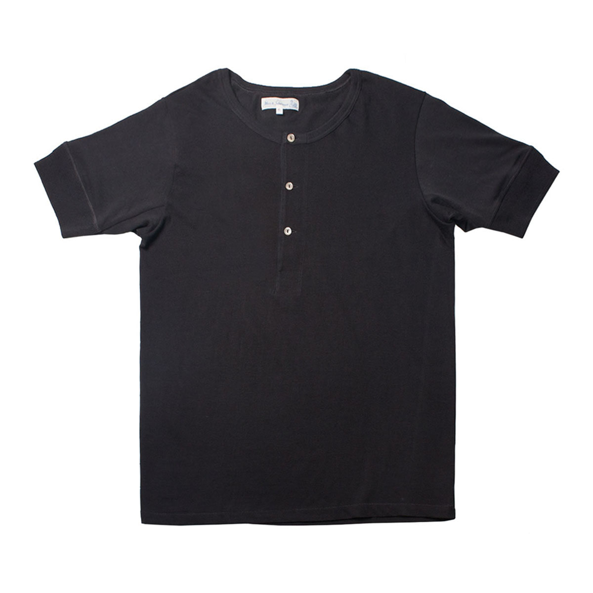 [Merz B. Schwanen] MEN'S 207 HENLEY SHORT SLEEVE 'CHARCOAL'