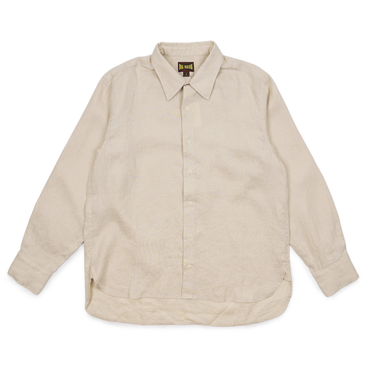 [BIG UNION] COZY LINEN LONG SLEEVE SHIRT 'BEIGE'