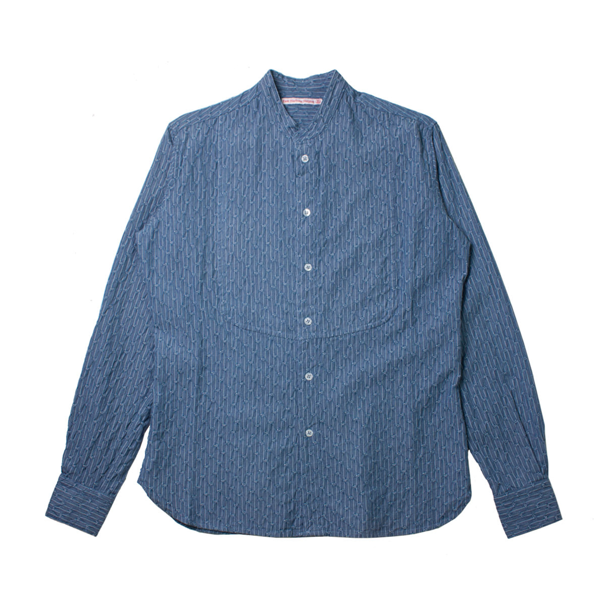 [EAST HARBOUR SURPLUS] JAQUARD PATTERN MING SHIRT 'BLUE'