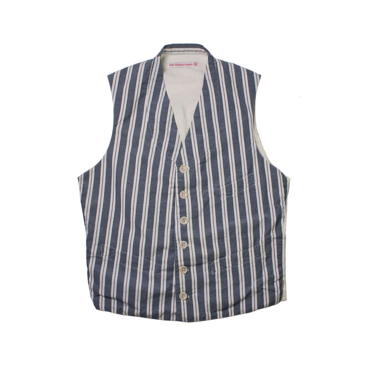 [EAST HARBOUR SURPLUS] KEANU STRIPE VEST 'BLUE'