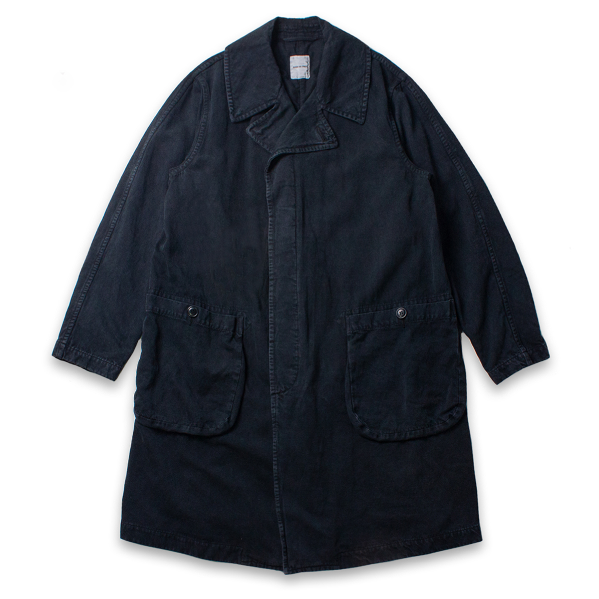[SAGE DE CRET] STONE WASHED COAT 'BLACK'