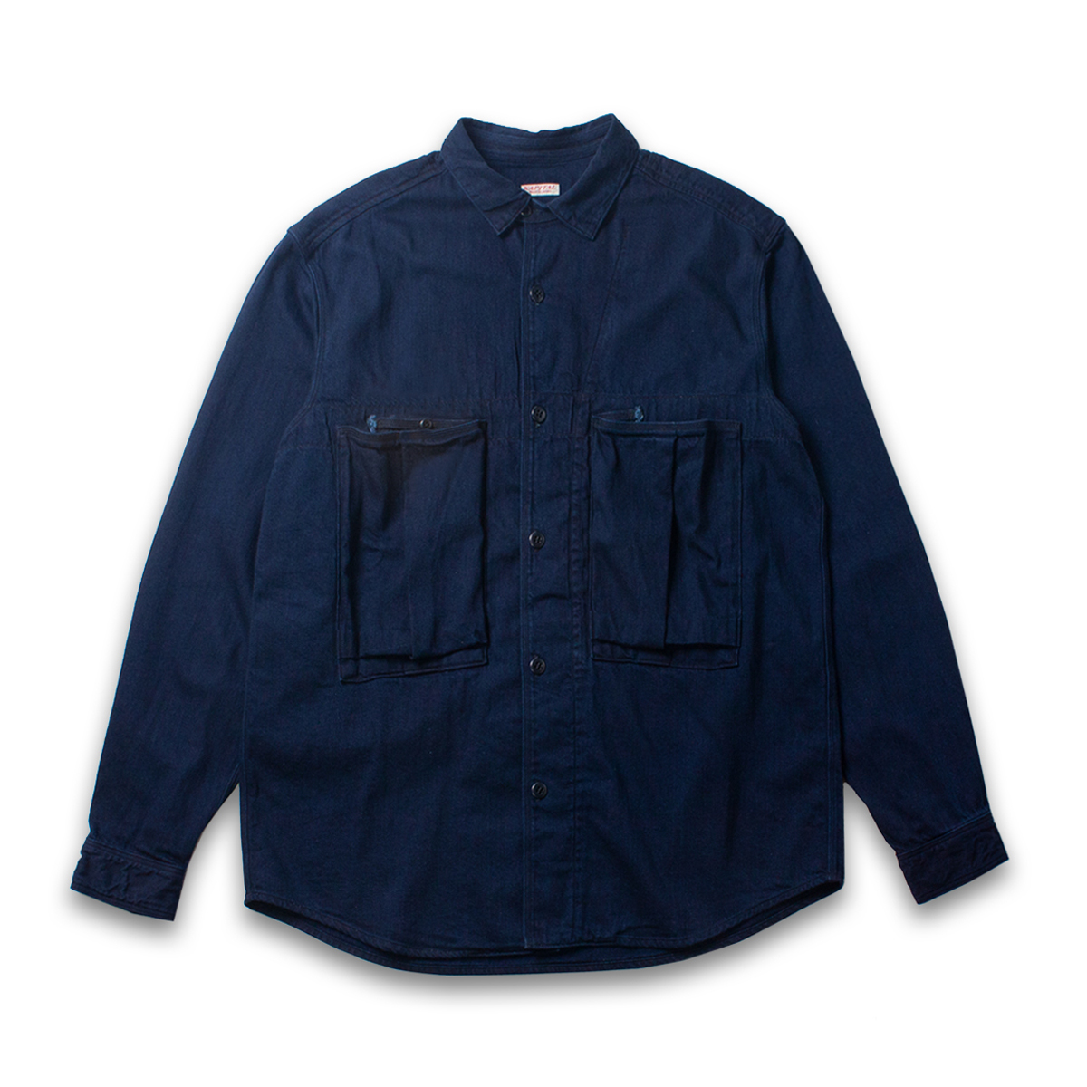 [KAPITAL] 8oz IDG x IDG DENIM ANORAK SHIRT 'INDIGO'