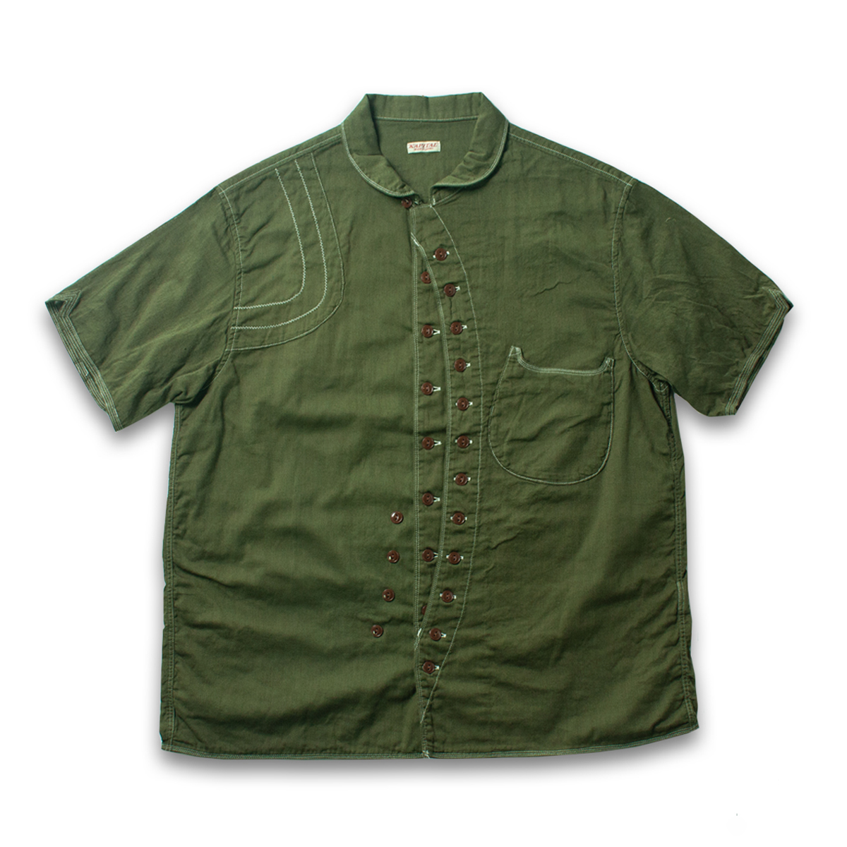 [KAPITAL] SINGLE-LAYER GAUZE SAFARI ALOHA SHIRT 'KHAKI'