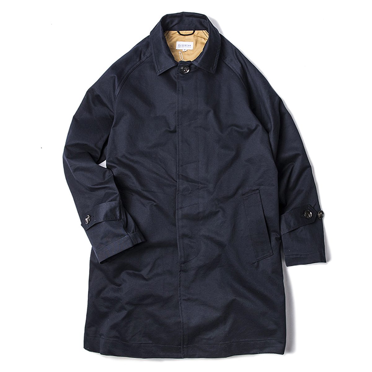 [ELSEWEAR] BALMACAAN COAT 'NAVY'