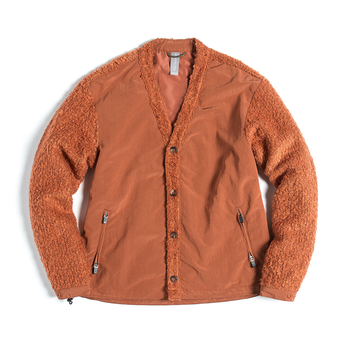 [UNAFFECTED] V-NECK CARDIGAN 'GINGER ORANGE'