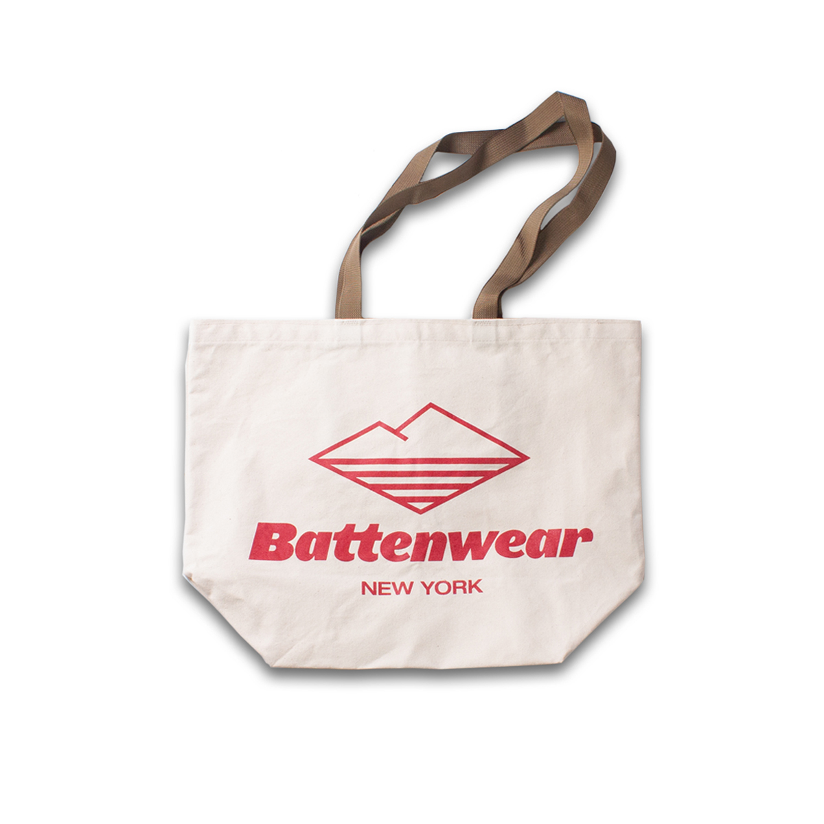 [BATTENWEAR] LOGO PRINT CANVAS TOTE 'NATURAL'