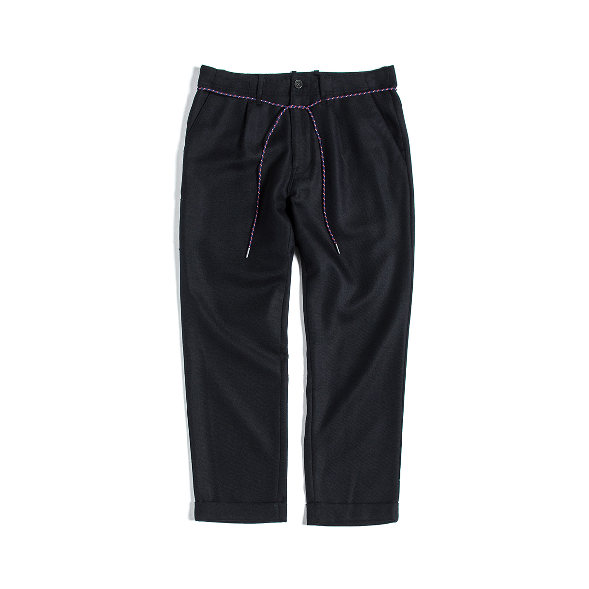 [UNAFFECTED] DRAWSTRING SLACKS 'NAVY TWILL'