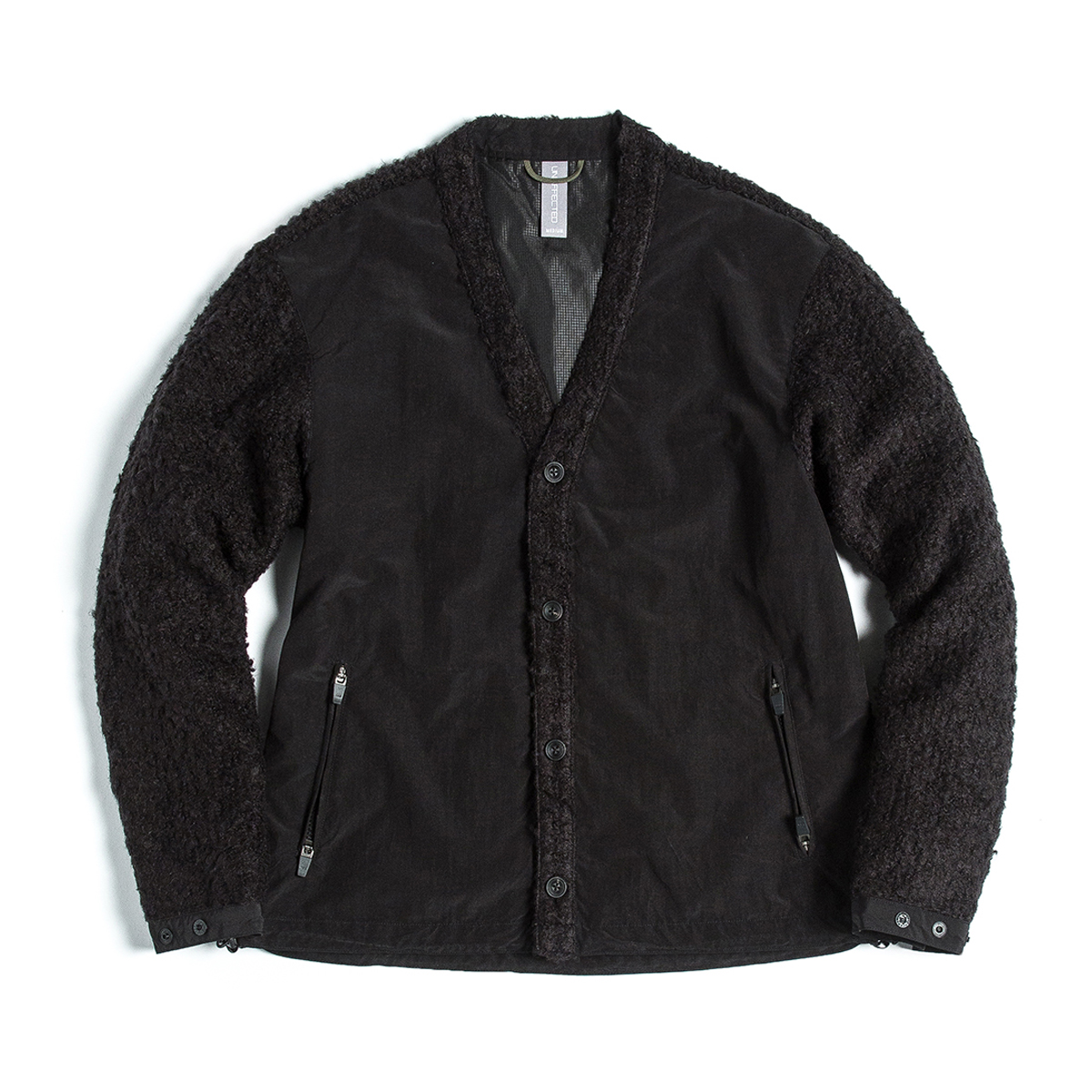 [UNAFFECTED] V-NECK CARDIGAN 'BLACK'