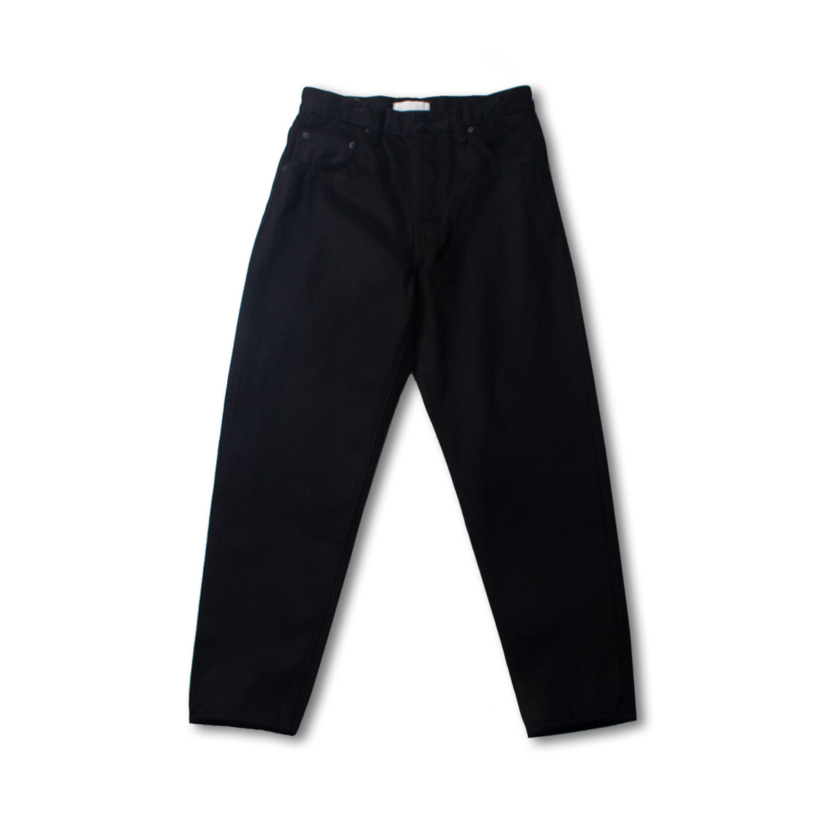 [HATSKI] LOOSE TAPERED DENIM 'BLACK'