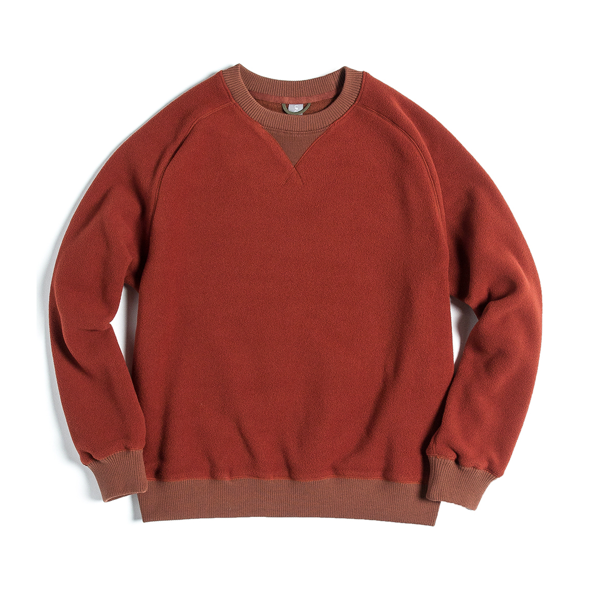 [UNAFFECTED] SWEAT SHIRT 'AMBER ORANGE FLEECE'