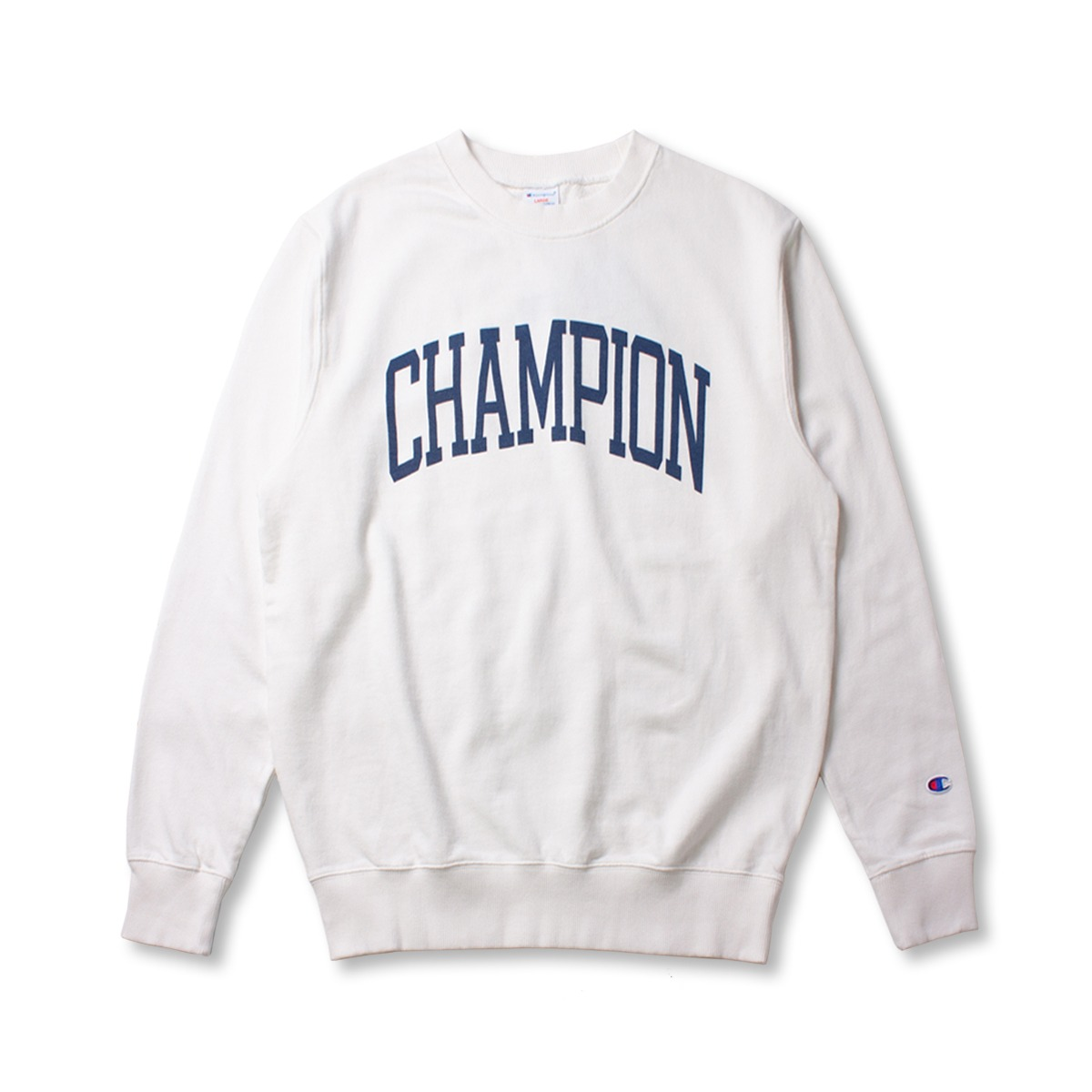 [CHAMPION] CREW NECK SWEAT SHIRT 'OFF WHITE'