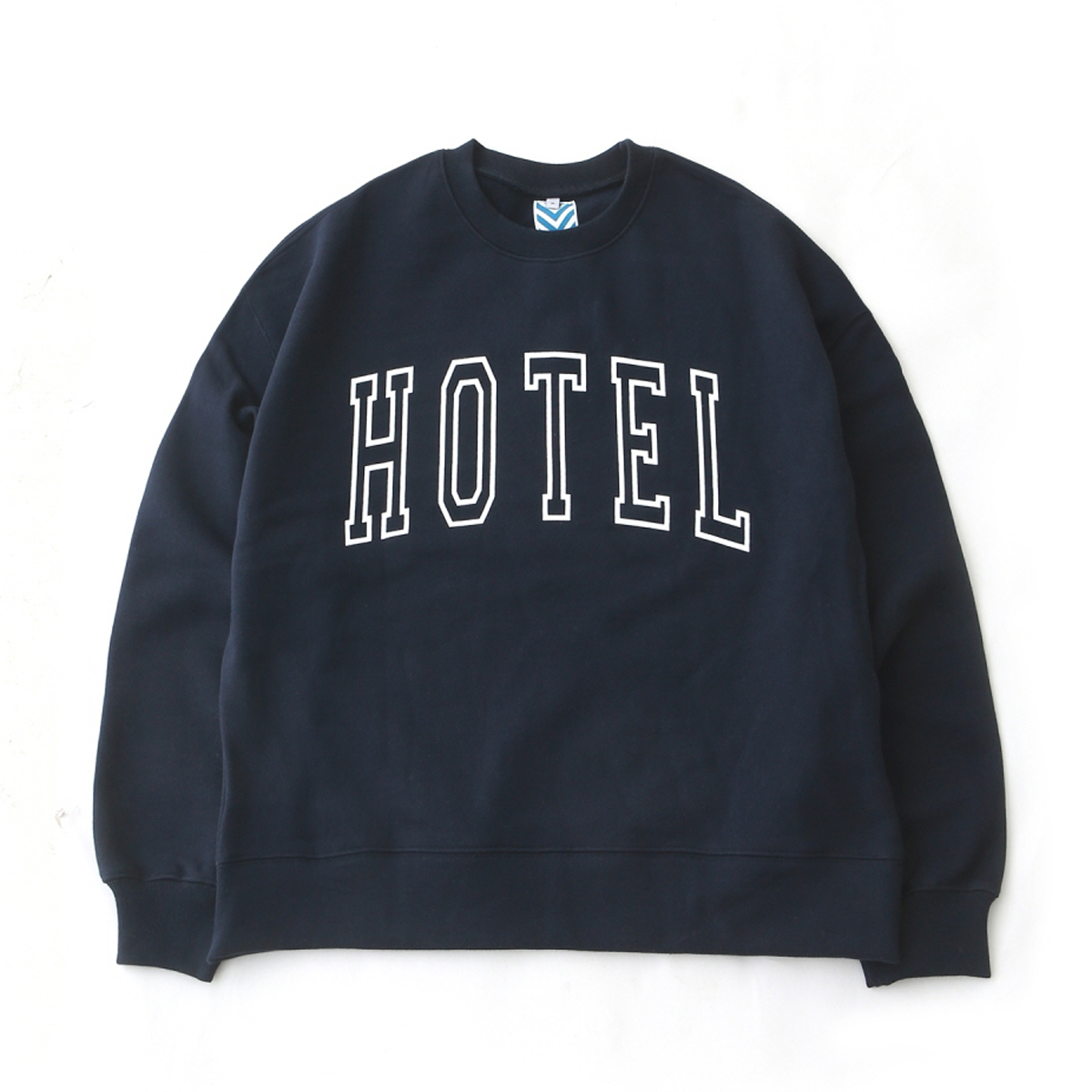 [DAILY INN] HOTEL BIG LOGO SOFT HEAVY WEIGHT OVERSIZED SWEAT 'NAVY'