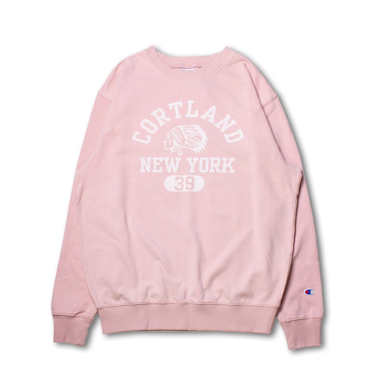 [CHAMPION] CREW NECK SWEAT SHIRT (C3-N014) 'PINK'