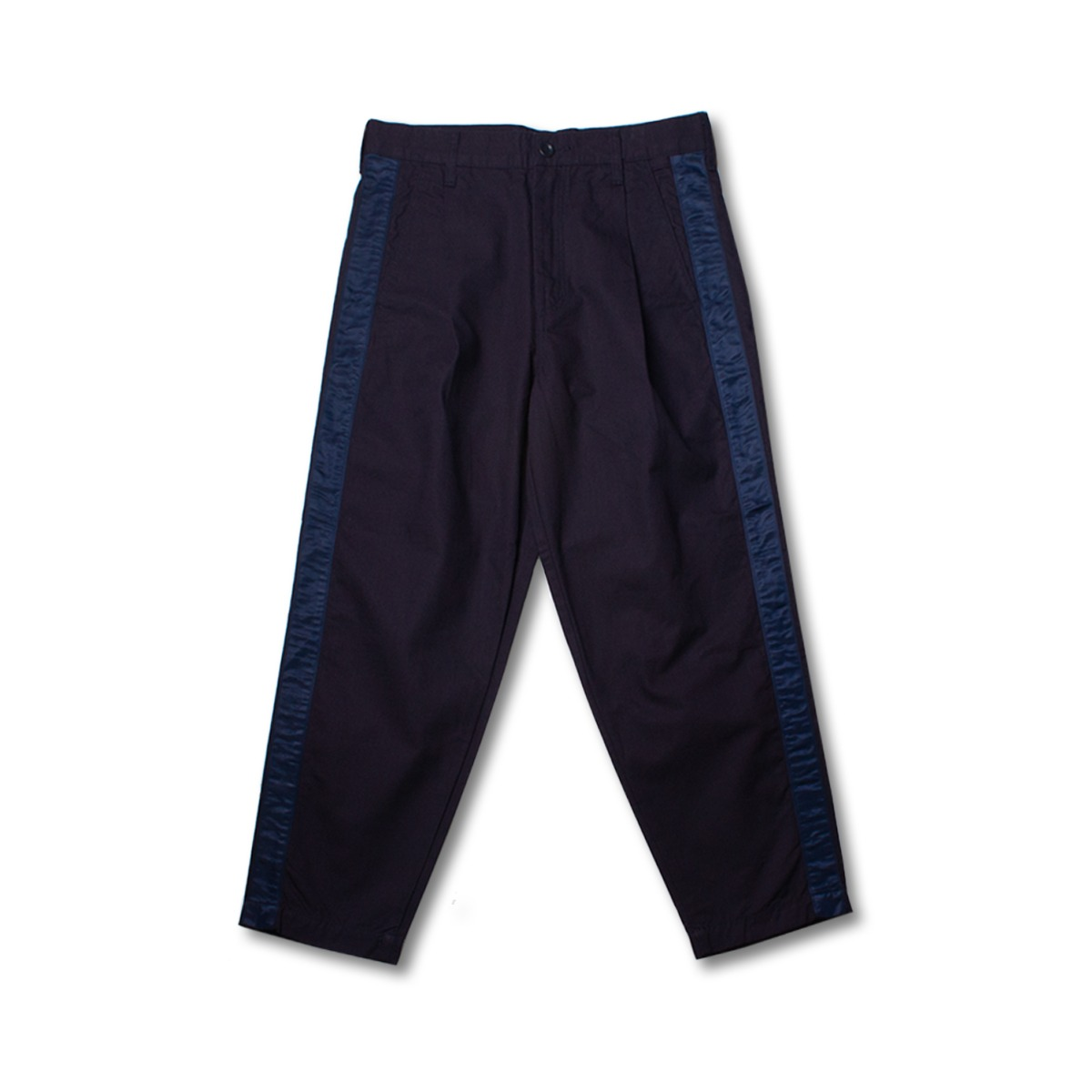 [FDMTL] SIDE TAPE WIDE CROPPED PANTS 'NAVY'