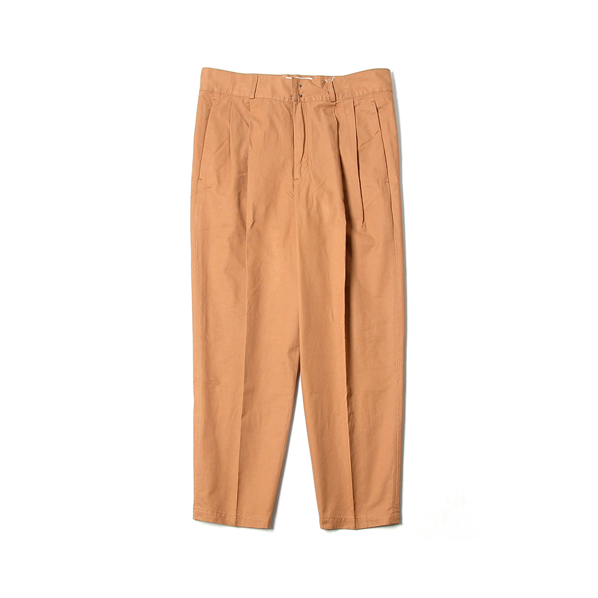 [BEHEAVYER] BHR TWO PLEATED CROP PANTS 'BROWN'