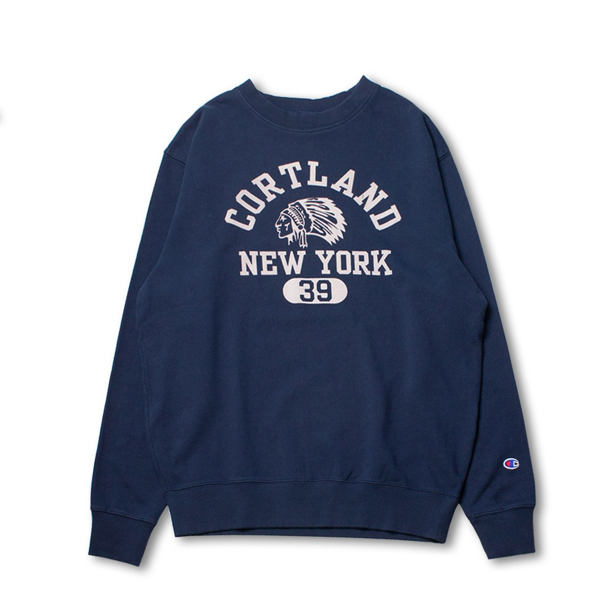 [CHAMPION] CREW NECK SWEAT SHIRT (C3-N014) 'NAVY'