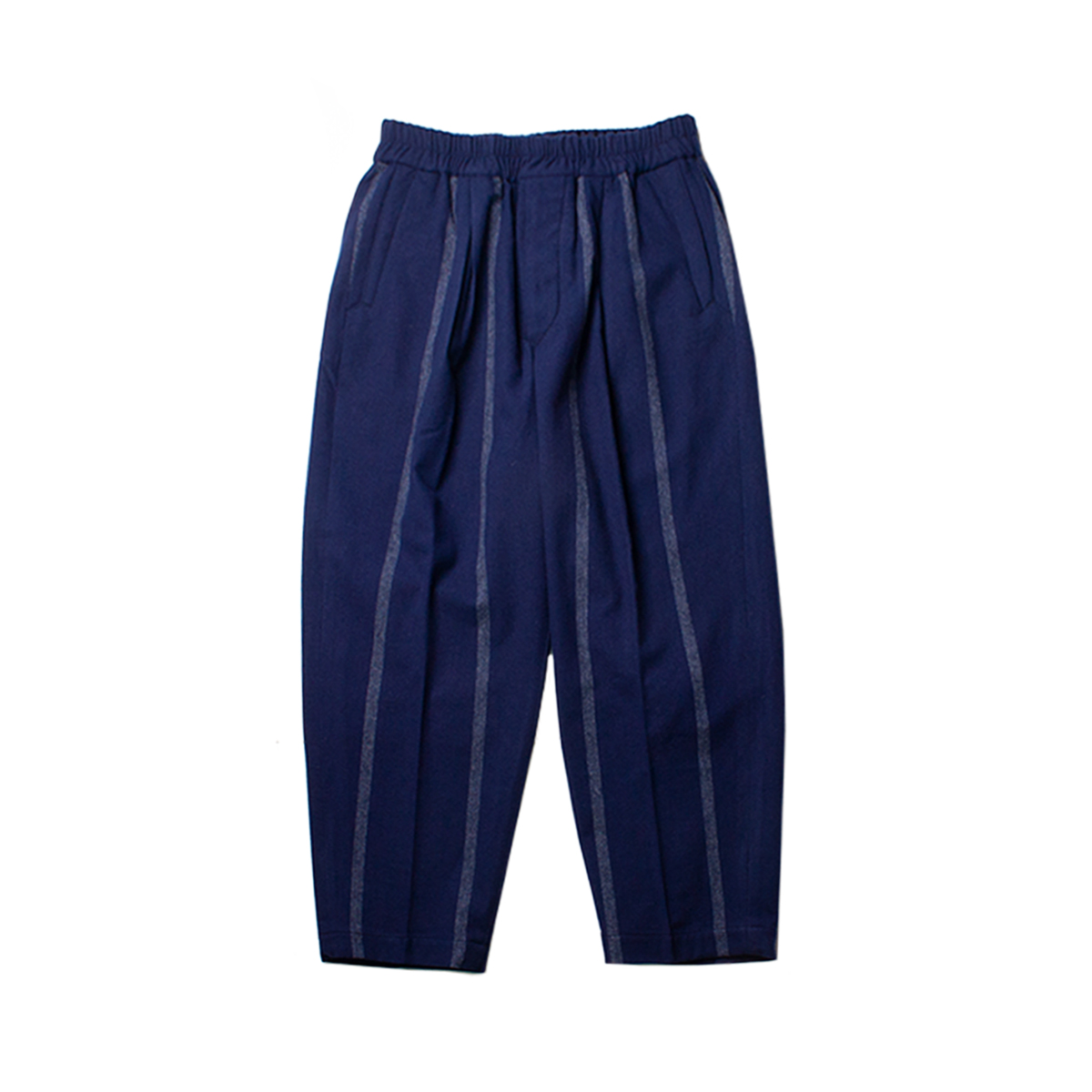 [HAVERSACK] WIDE STRIPE EASY PANTS 'NAVY'