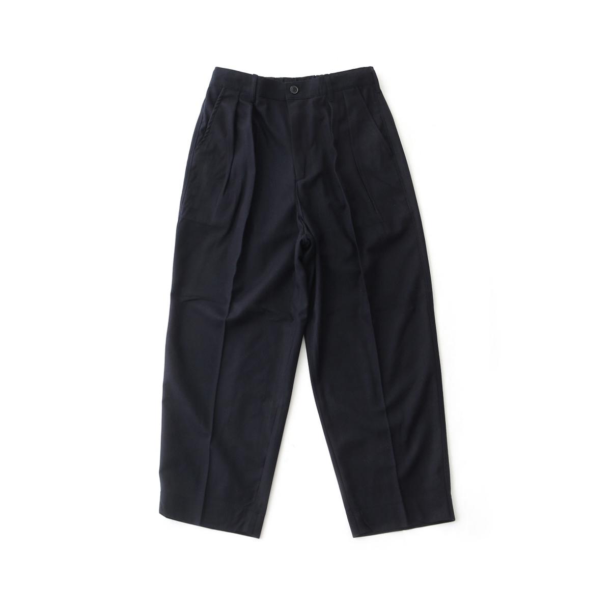 [DAILY INN] LOBBY BOY EASY WIDE TR WOOL PANTS / LOOSE TAPERED FIT 'NAVY WOOL'