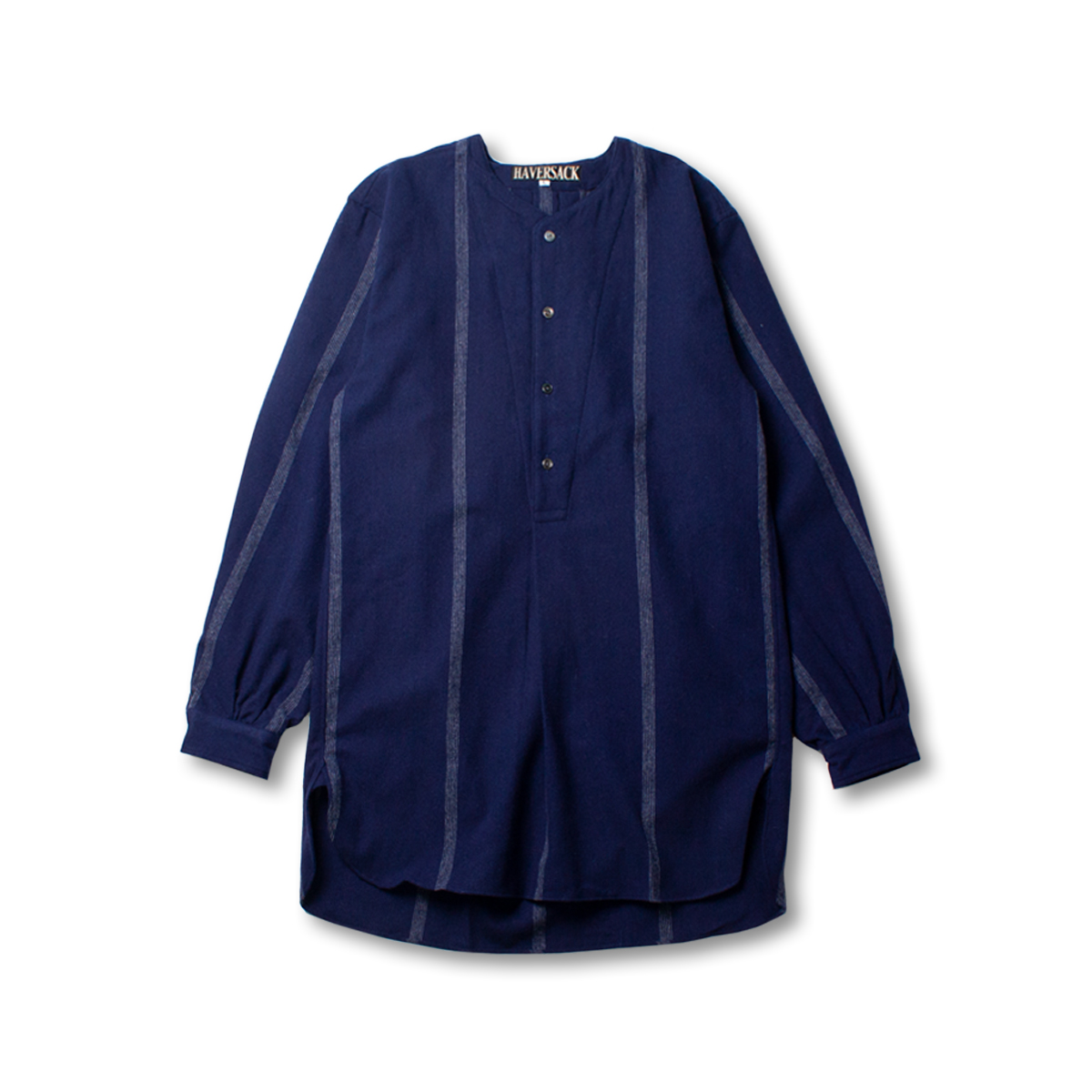 [HAVERSACK] NONE COLLAR STRIPE SHIRT 'NAVY'