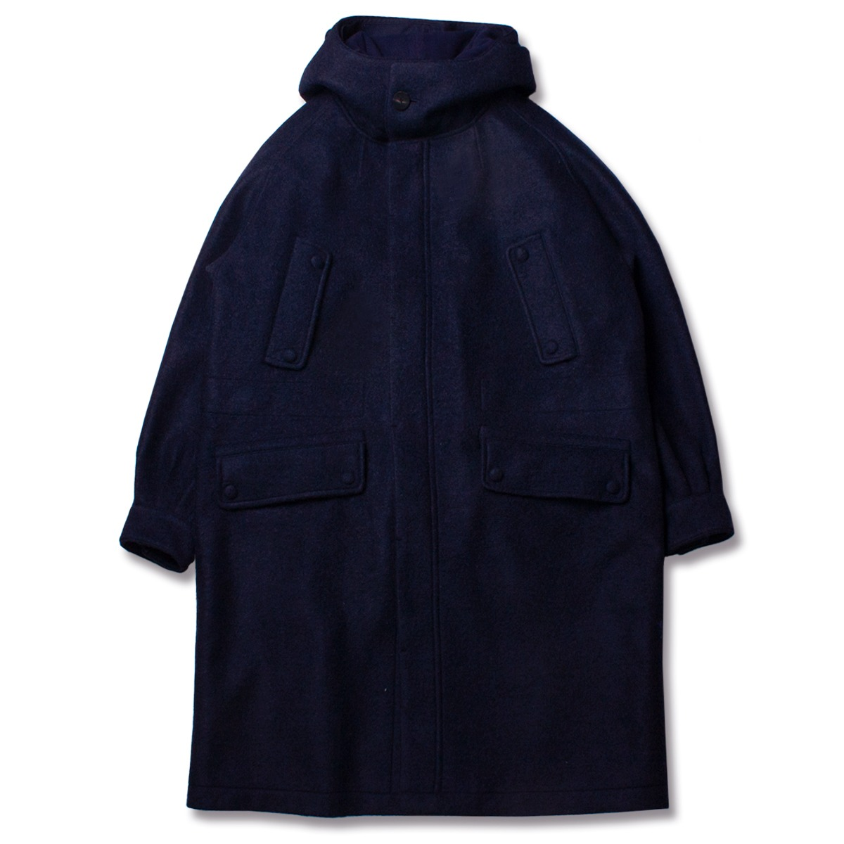 [DOCUMENT] THE DOCUMENT WOOL PARKA 'NAVY'