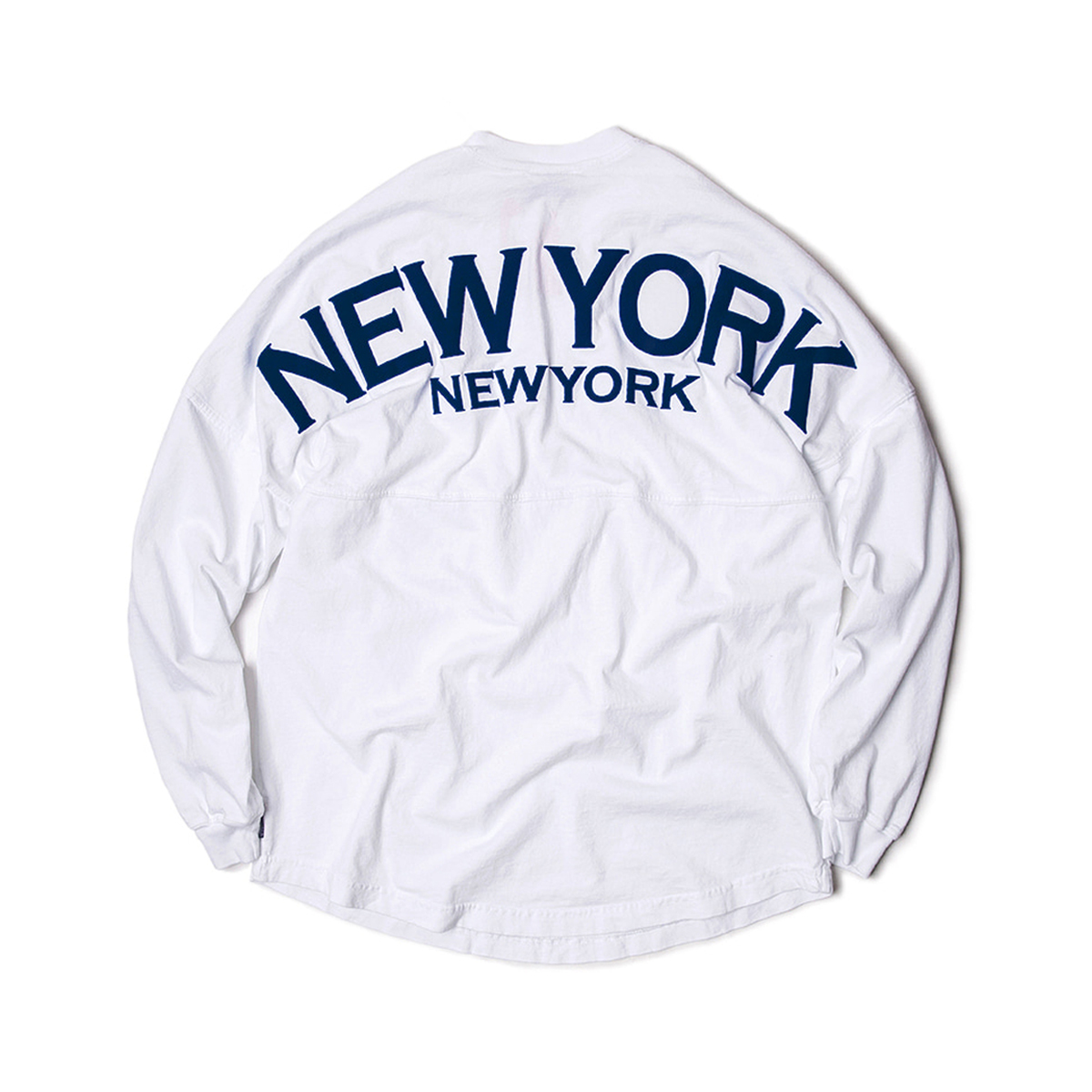 [SPIRIT JERSEY] NEW YORK L/S TEE 'WH/NV'