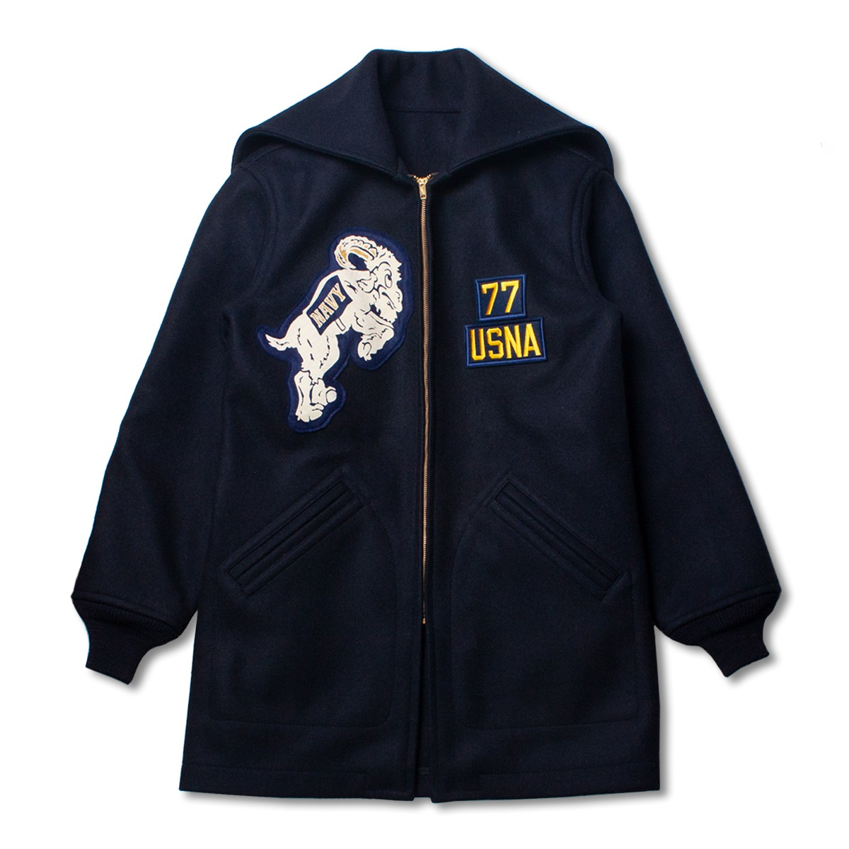 [BUZZ RICKOSN'S] BR14186 ACADEMY COAT 'NAVY'