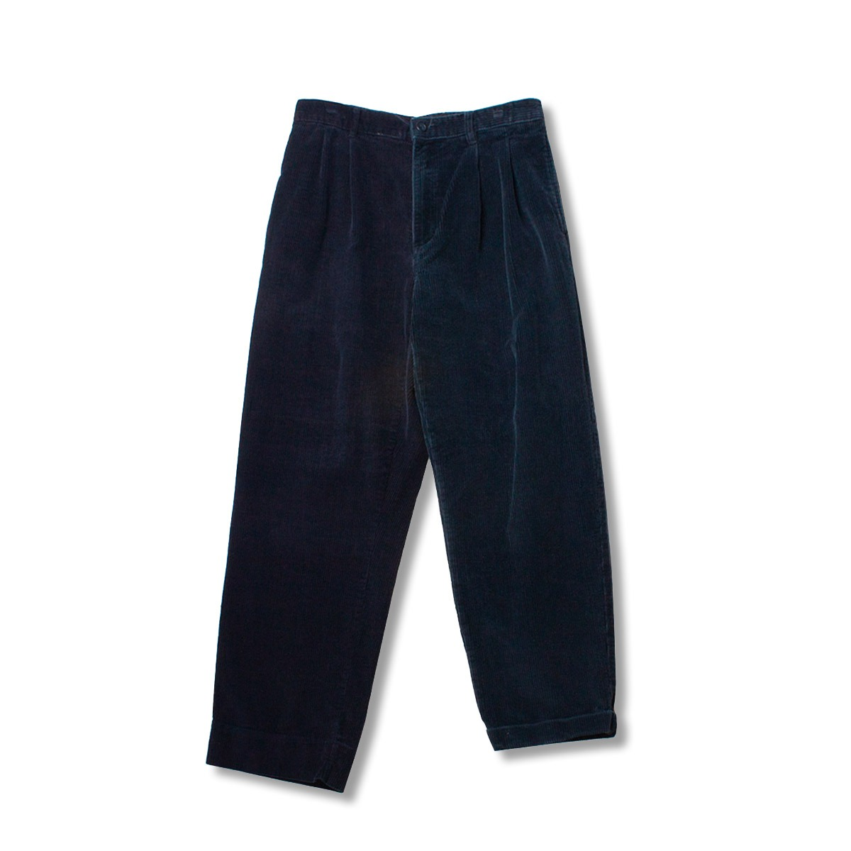 [SUNNY SIDE UP] RE 2FOR1 CORDUROY TRUOESERS 'NAVY'