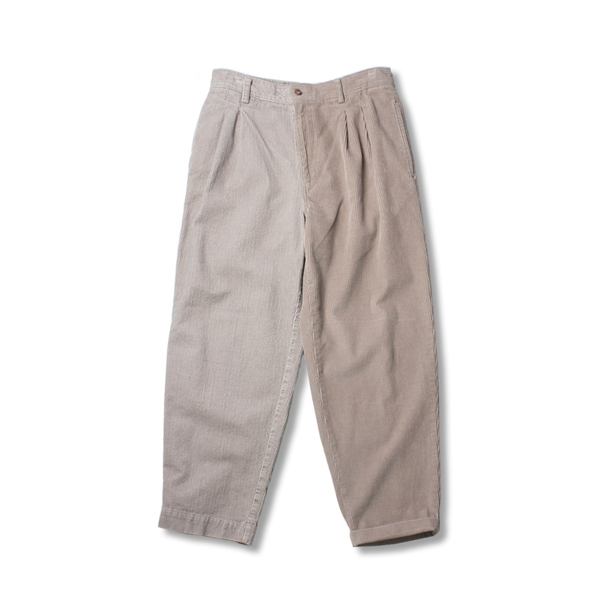[SUNNY SIDE UP] RE 2FOR1 CORDUROY TRUOESERS 'BEIGE'