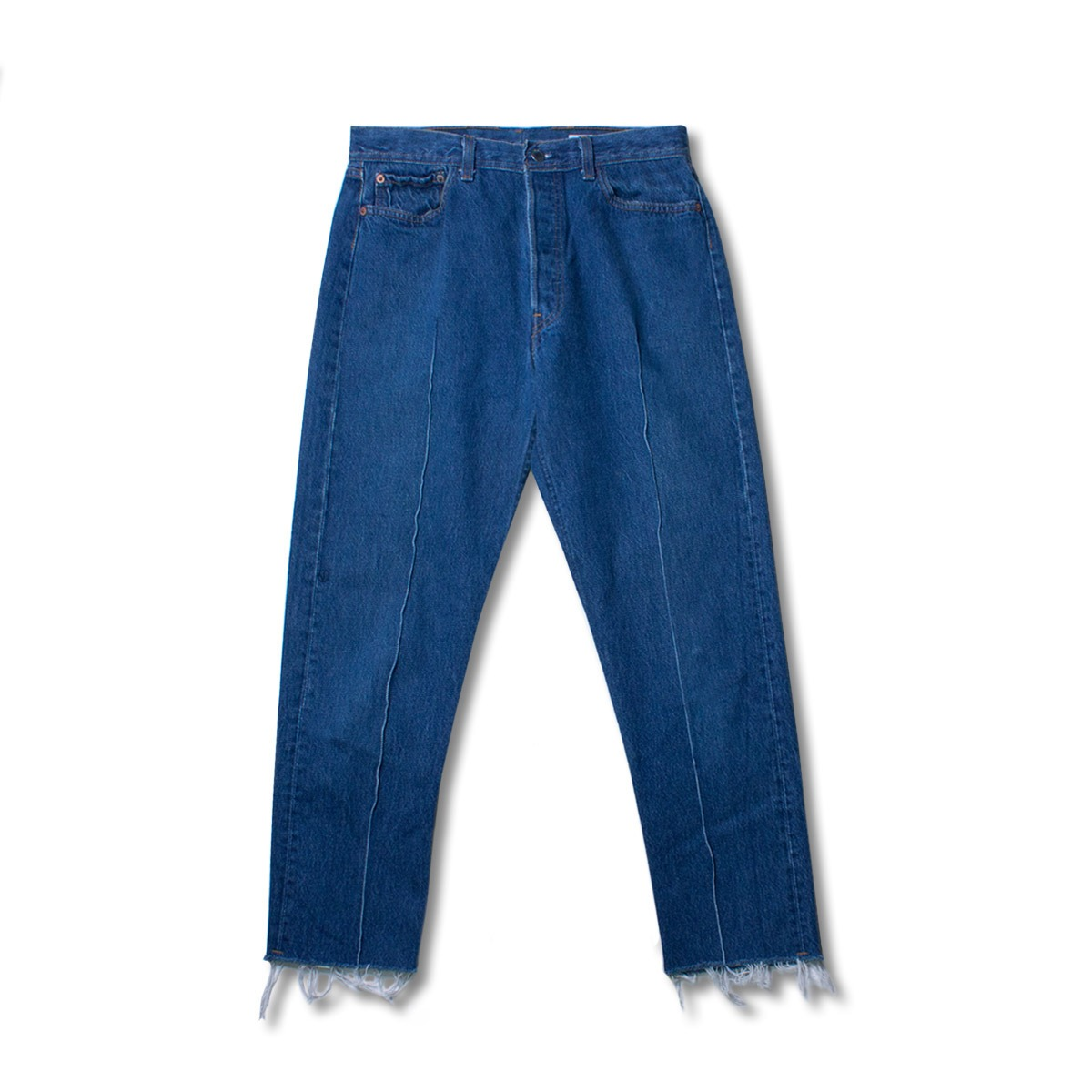 [SUNNY SIDE UP] RE PLEATS DENIM 5P PANTS  'BLUE'