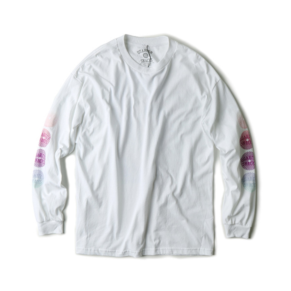 [QUARTERSNACKS] TRIPPY L/S TEE 'WHITE'