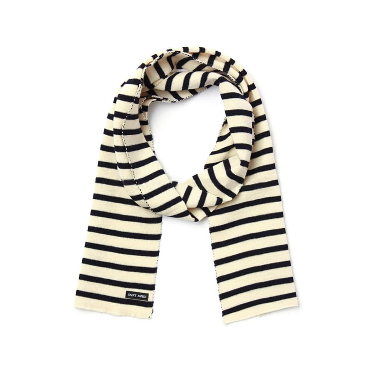 [SAINT JAMES] SCARF RAYE 'ECRU/MARINE'