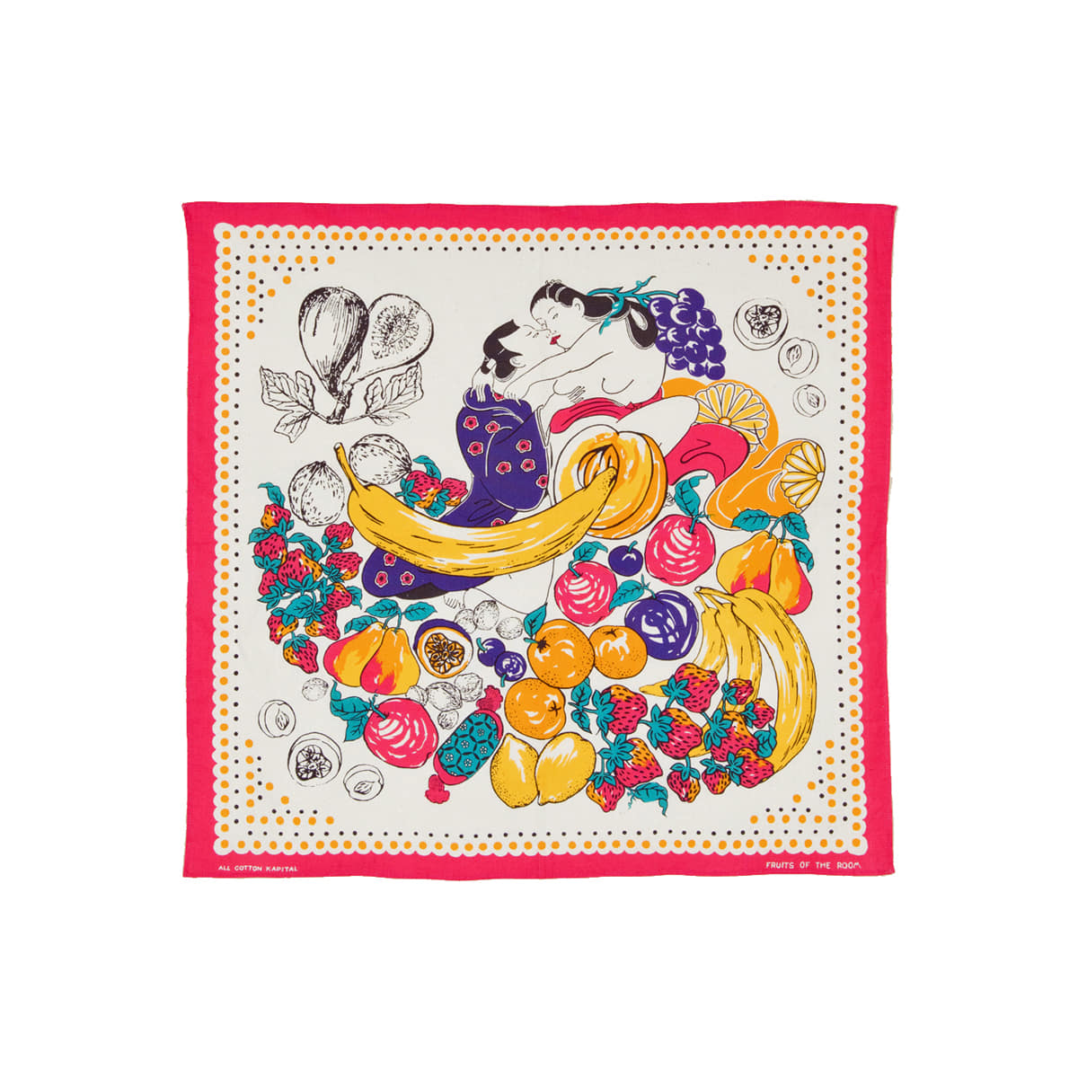 [KAPITAL] COLOR BANDANA (FRUIT SHUNGA) 'PINK'