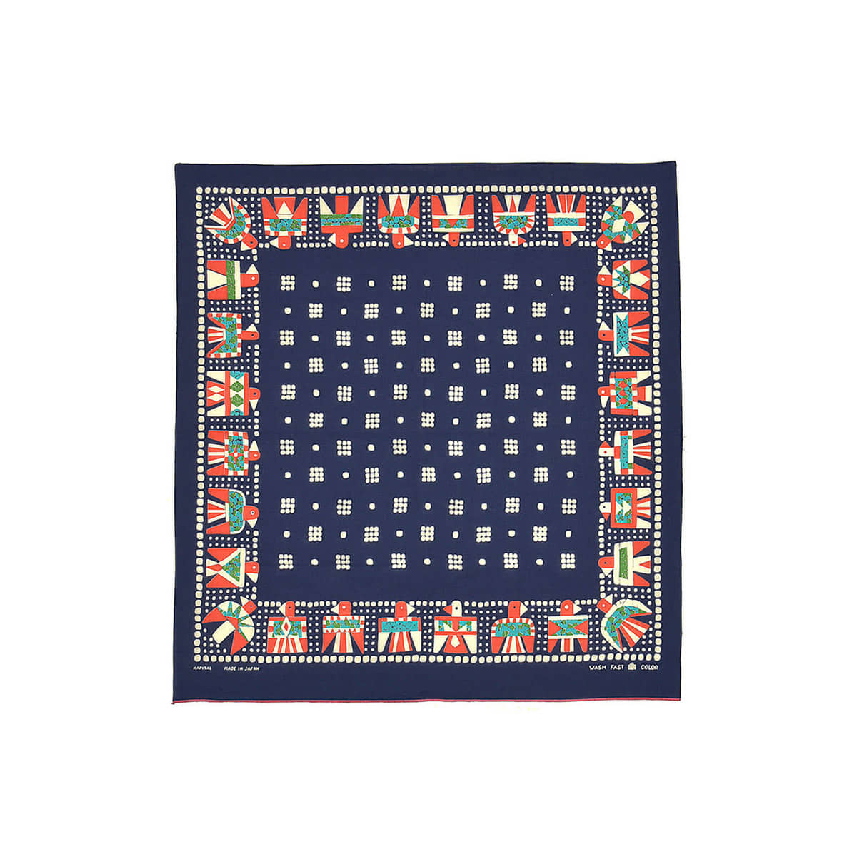 [KAPITAL] FAST COLOR SELVEDGE BANDANA (THUNDERBIRD) 'NAVY'